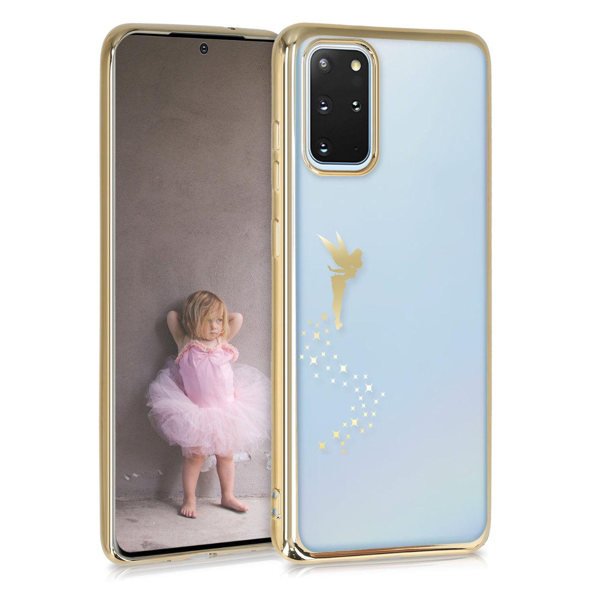 Silikonové pouzdro / obal se zlatým motivem víly pro Samsung S20 Plus