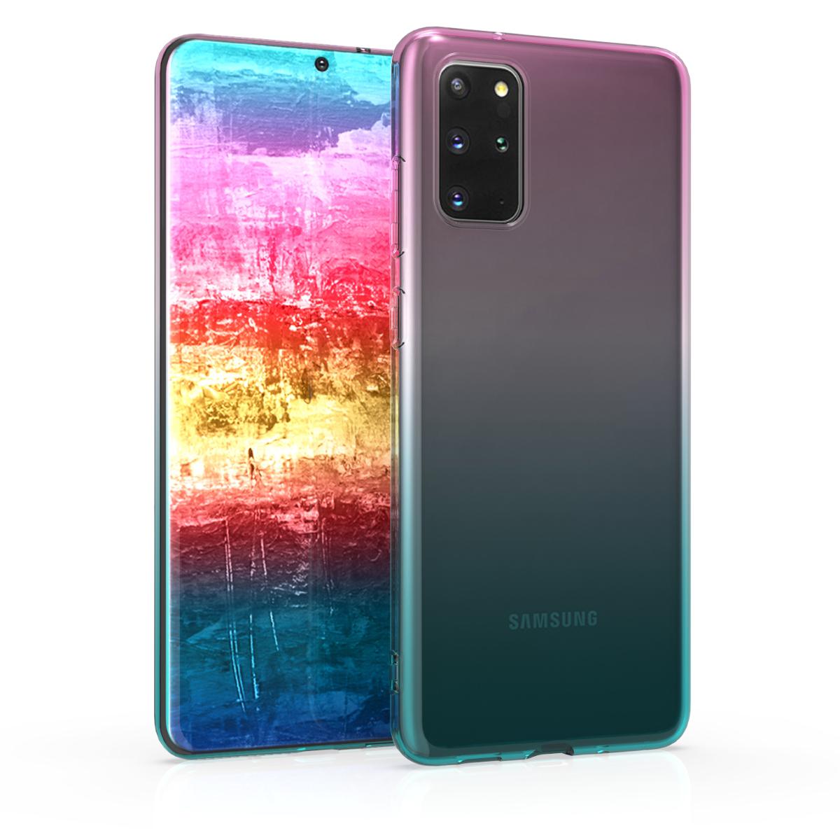 Fialovo modro růžové silikonové pouzdro / obal pro Samsung S20 Plus