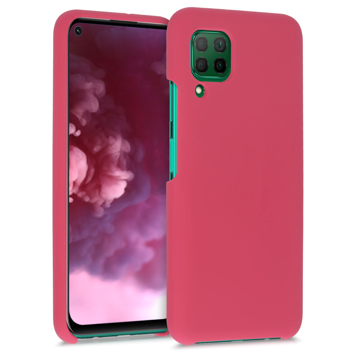 Fuchsiové červené silikonové pouzdro / obal pro Huawei P40 Lite