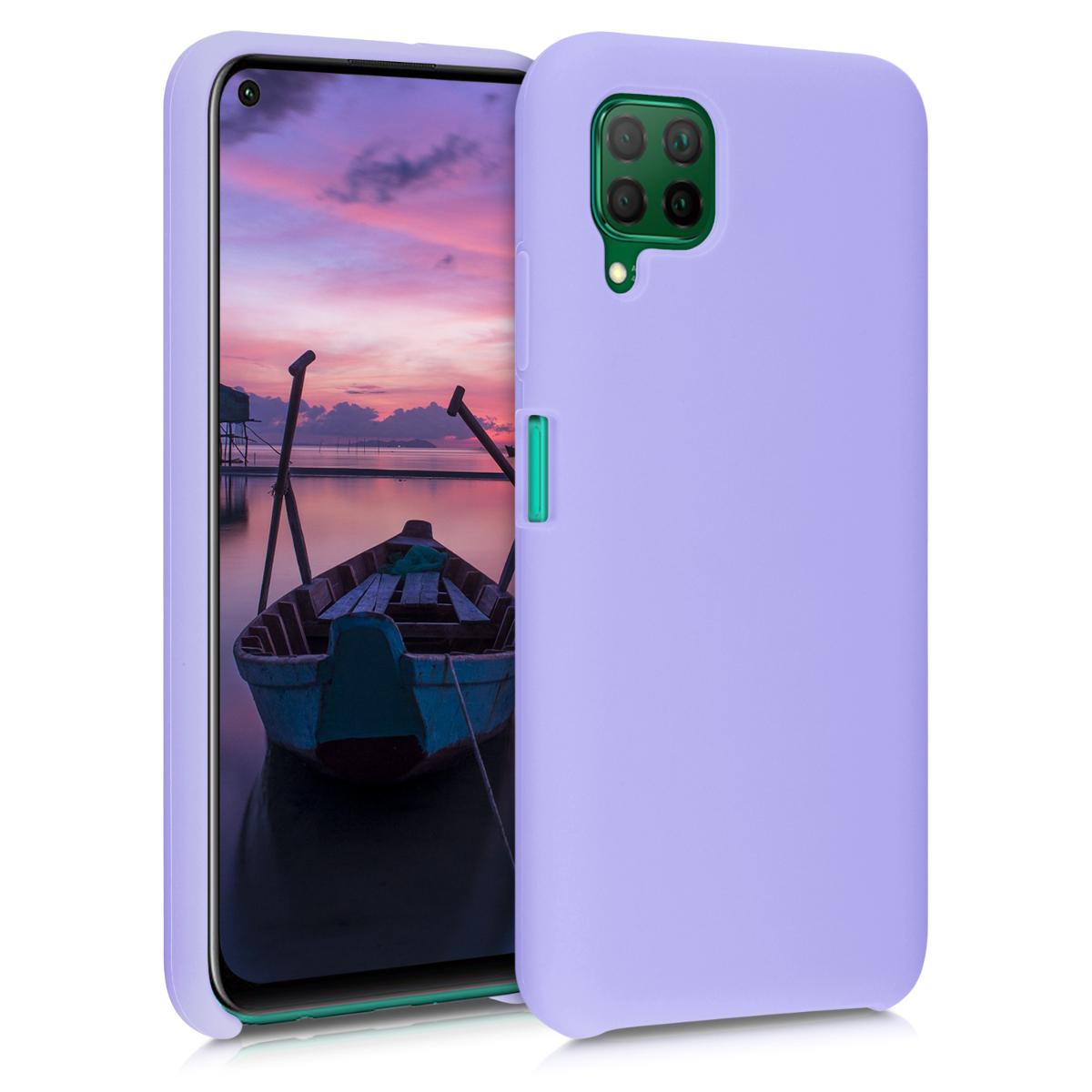 Fialové levandulové silikonové pouzdro / obal pro Huawei P40 Lite