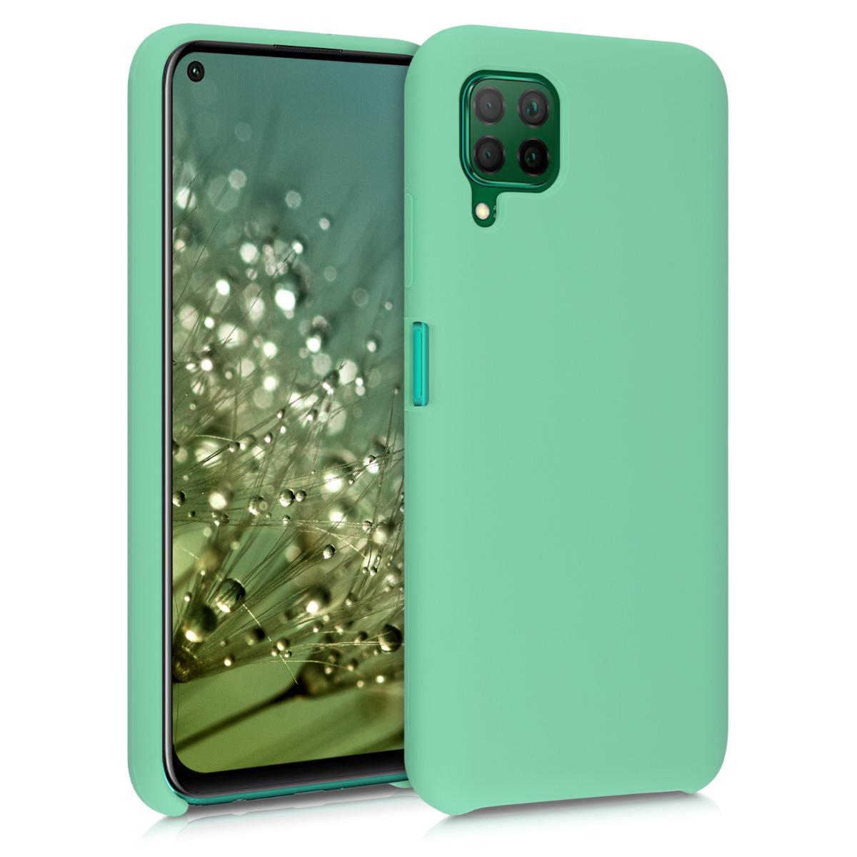 Peprmintově zelené silikonové pouzdro / obal pro Huawei P40 Lite