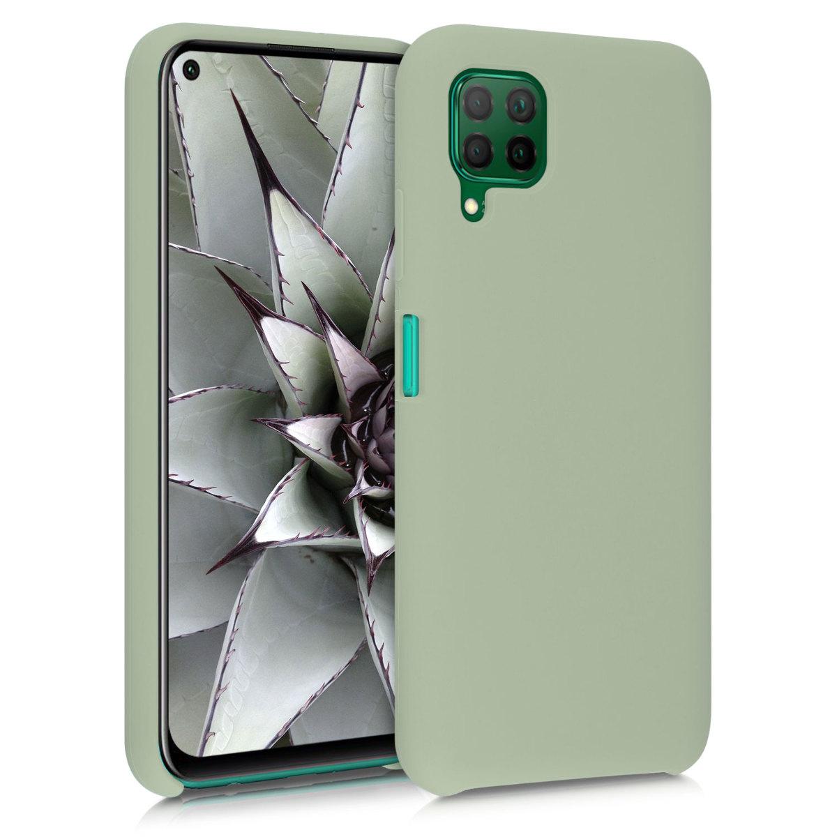 Zelené silikonové pouzdro / obal pro Huawei P40 Lite