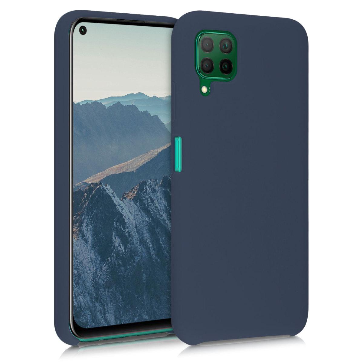Švestkové tmavě modré silikonové pouzdro / obal pro Huawei P40 Lite