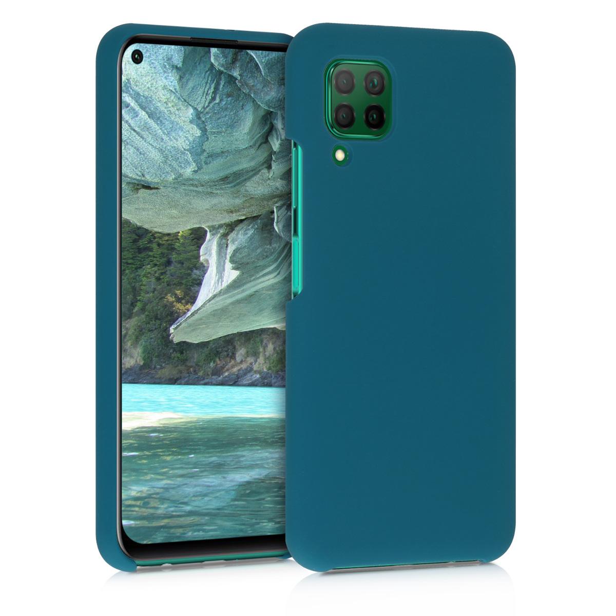 Petrolejové tmavě modré silikonové pouzdro / obal pro Huawei P40 Lite