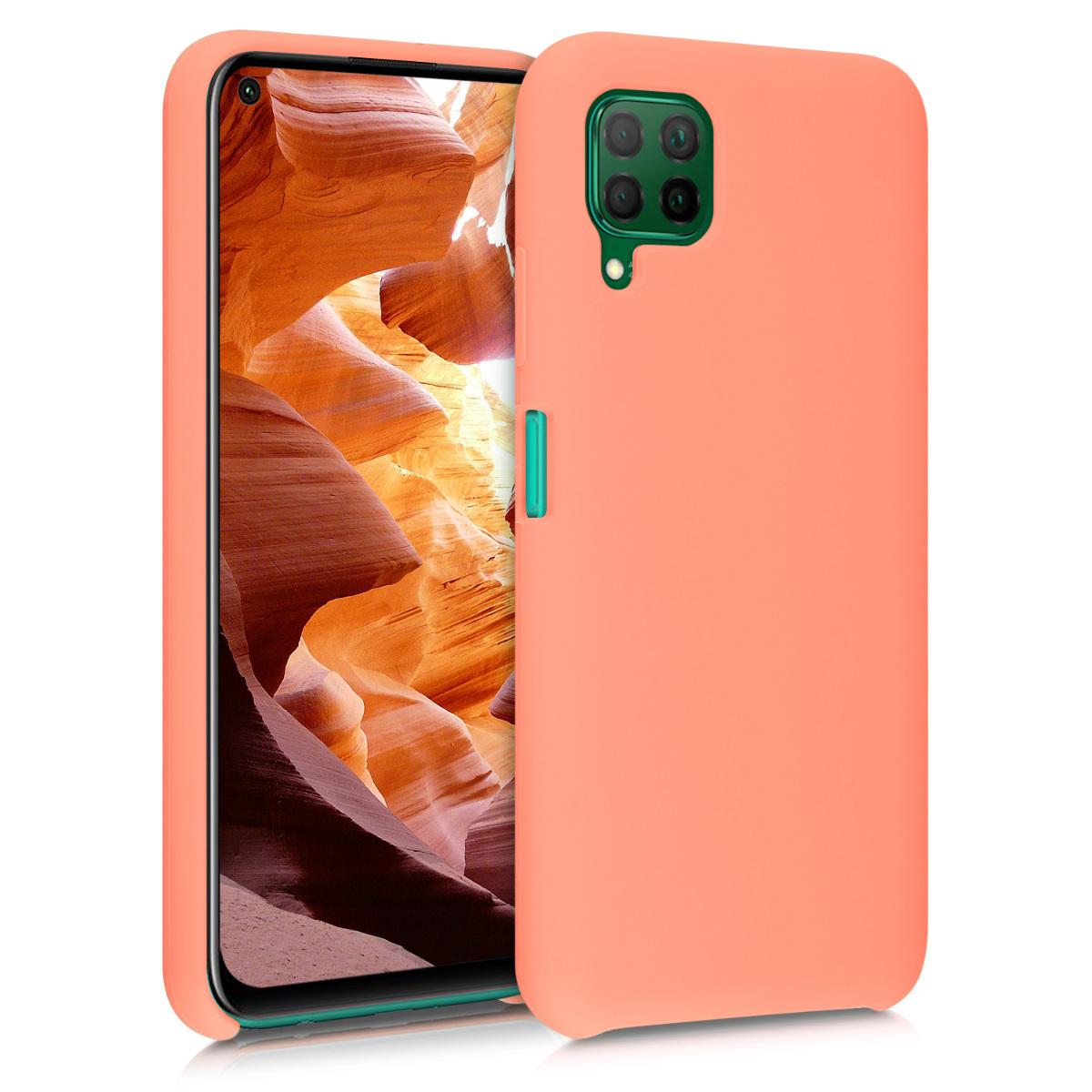 Korálově růžové silikonové pouzdro / obal pro Huawei P40 Lite