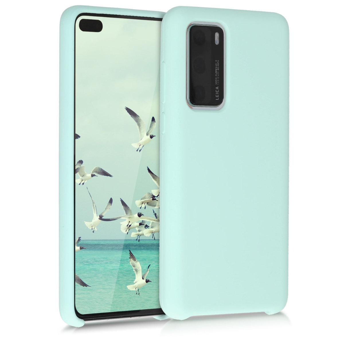 Zelené mint silikonové pouzdro / obal pro Huawei P40
