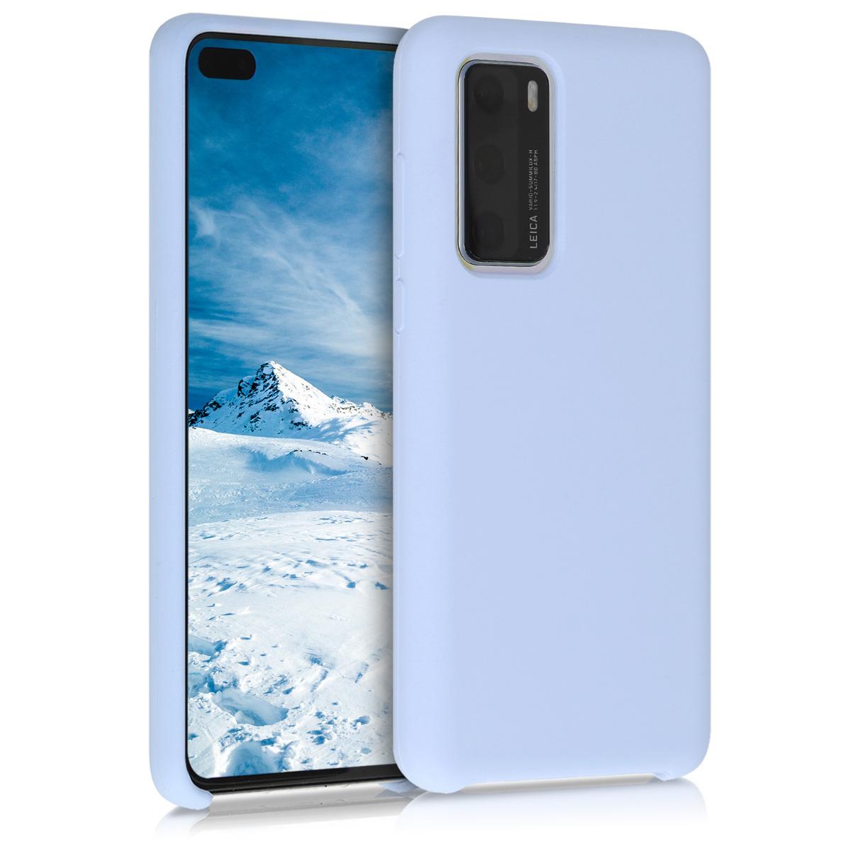 Světle fialové silikonové pouzdro / obal pro Huawei P40