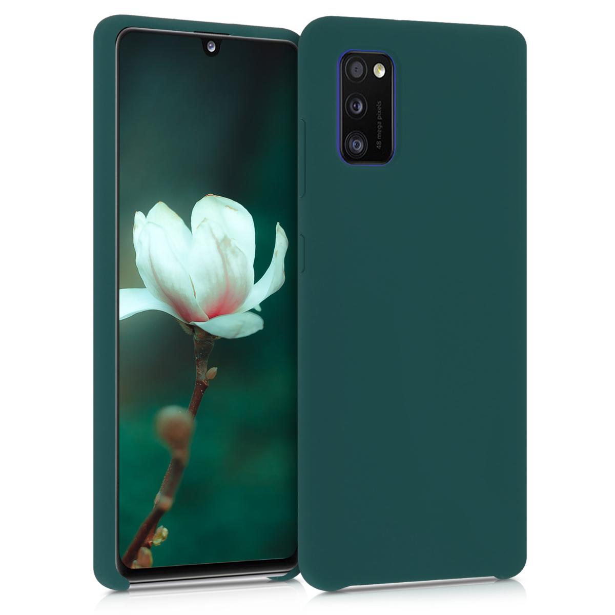 Kvalitní silikonové TPU pouzdro pro Samsung A41 - tyrkysové zelené