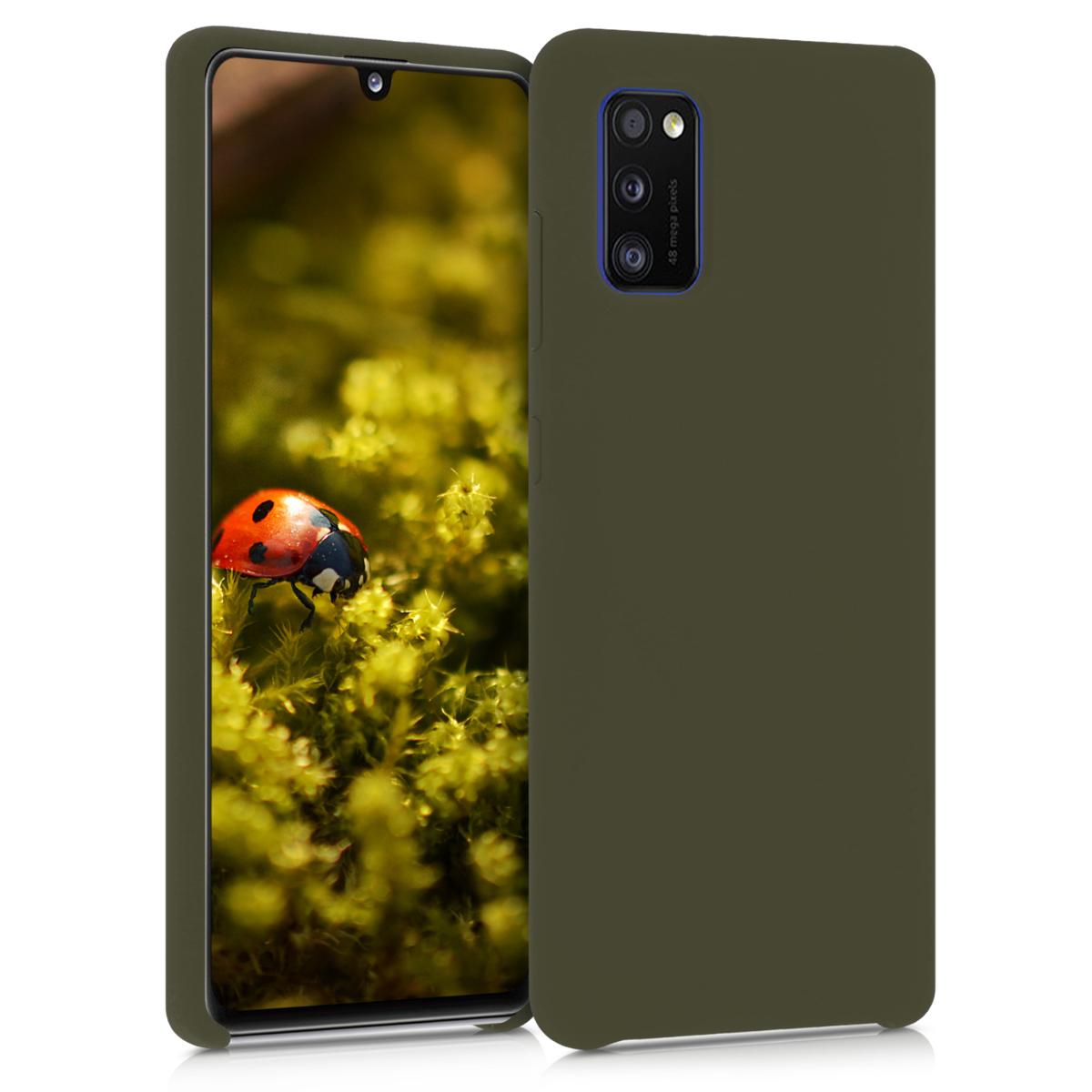 Kvalitní silikonové TPU pouzdro pro Samsung A41 - tmavé Olive