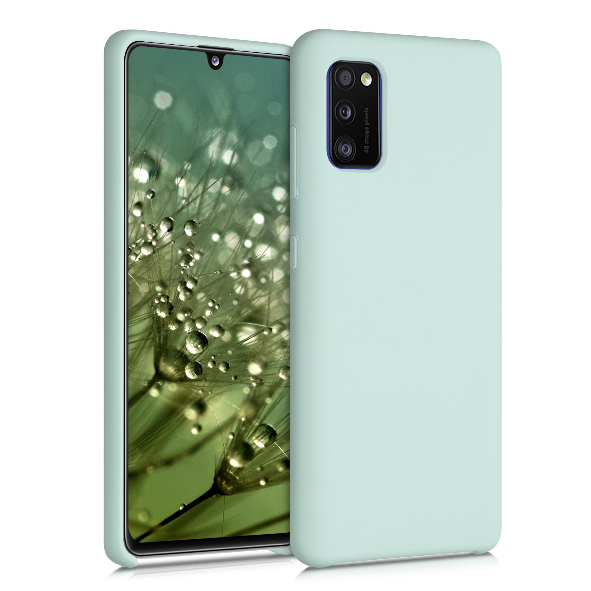 Kvalitní silikonové TPU pouzdro pro Samsung A41 - Frosty Mint