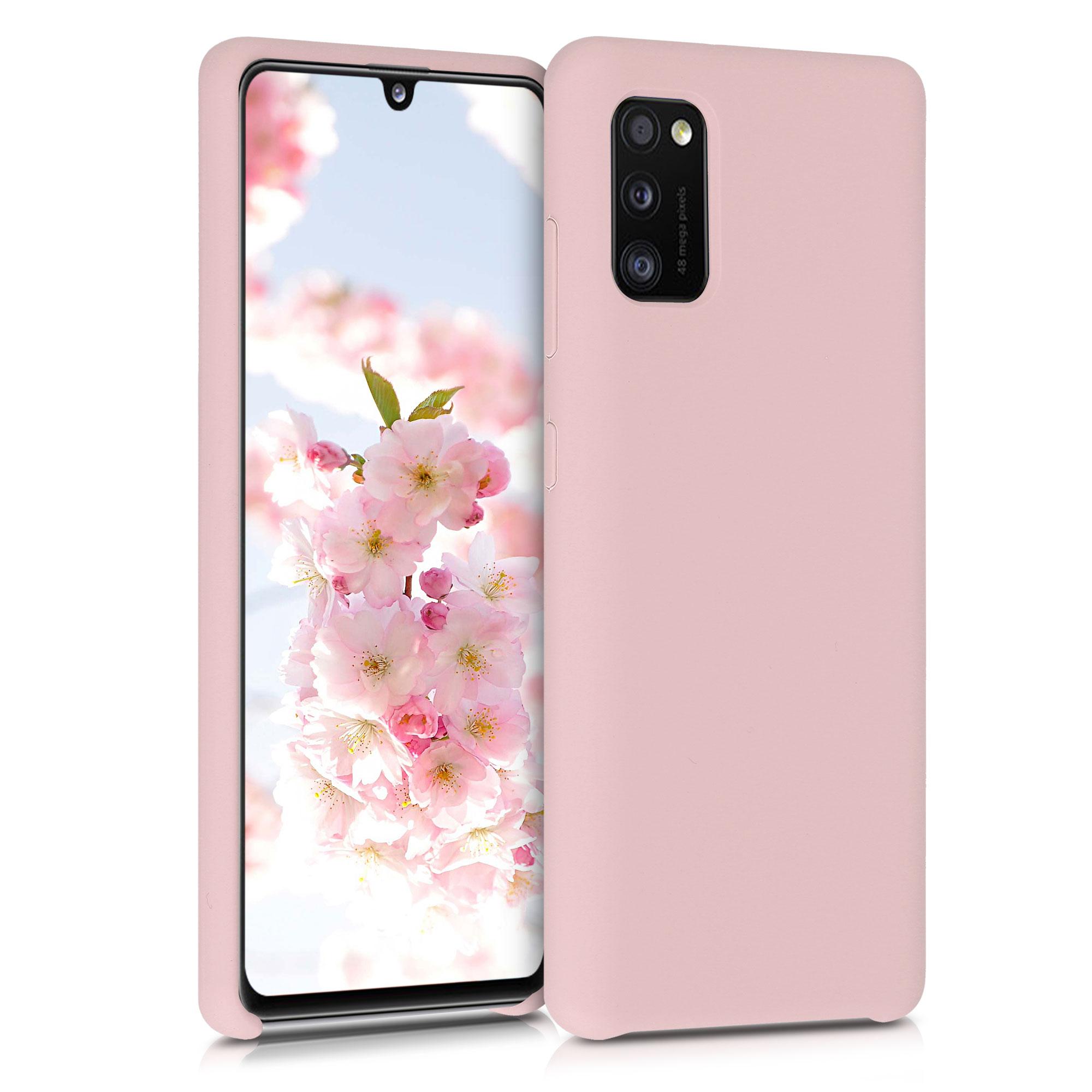 Kvalitní silikonové TPU pouzdro pro Samsung A41 - Antique růžové matné