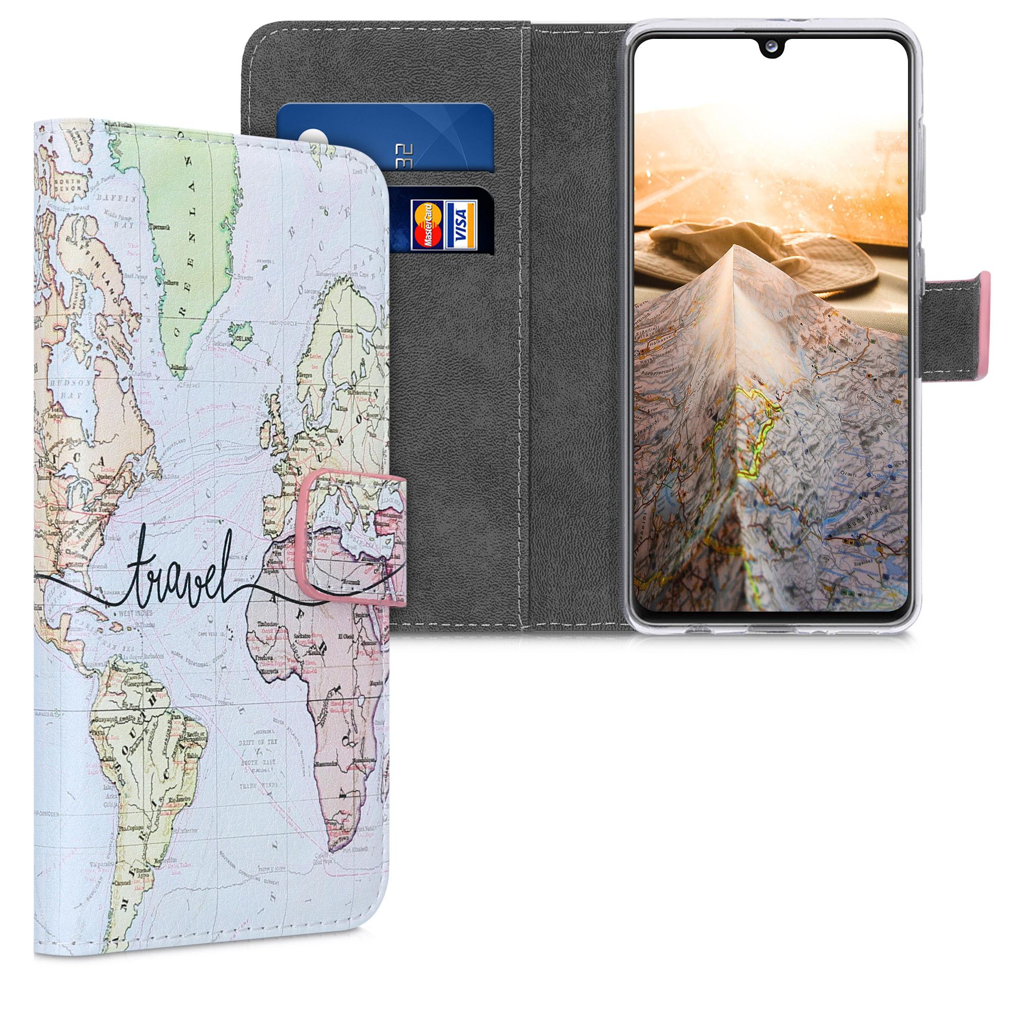 Kožené pouzdro pro Samsung A41 - Travel černé / vícebarevná