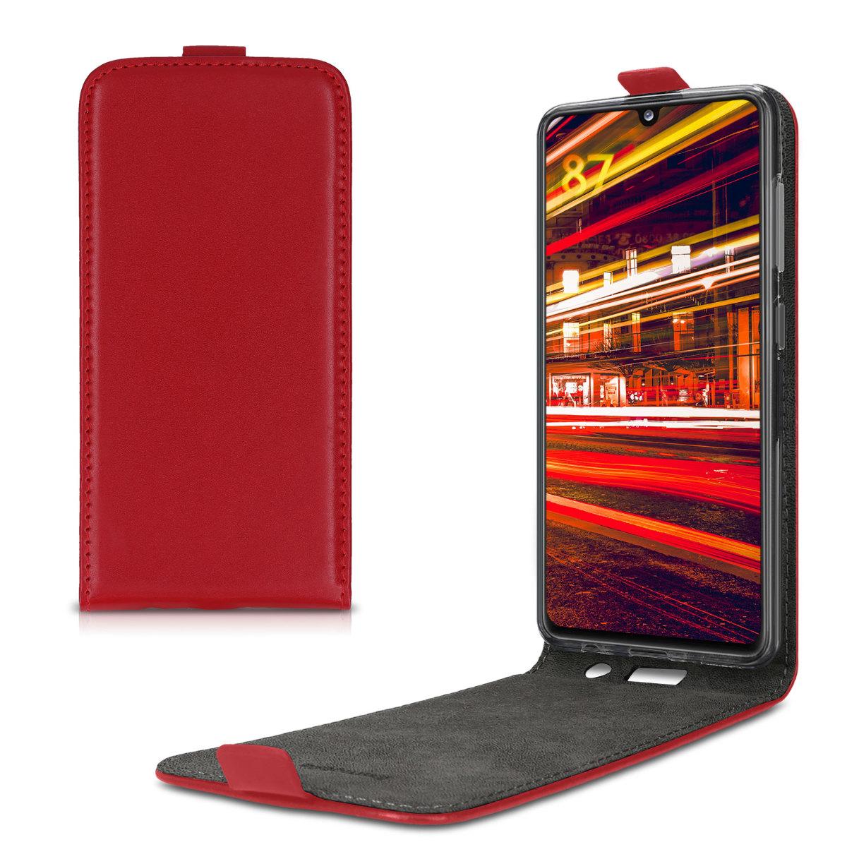 Kožené pouzdro pro Samsung A41 - Červené