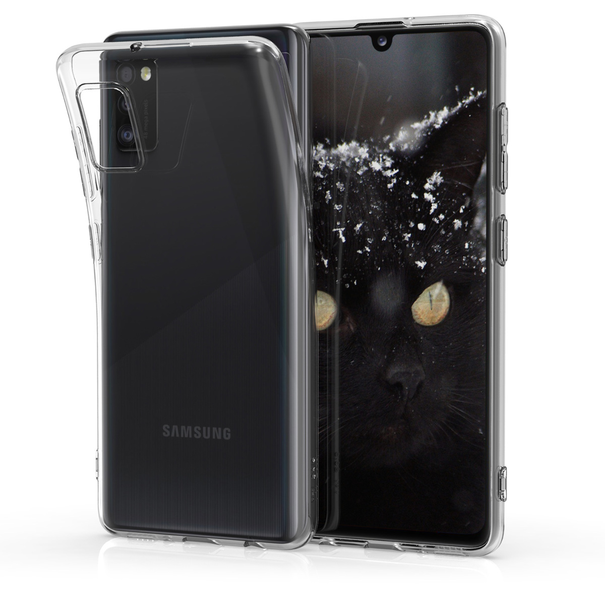 Kvalitní silikonové TPU pouzdro pro Samsung A41 - průhledné