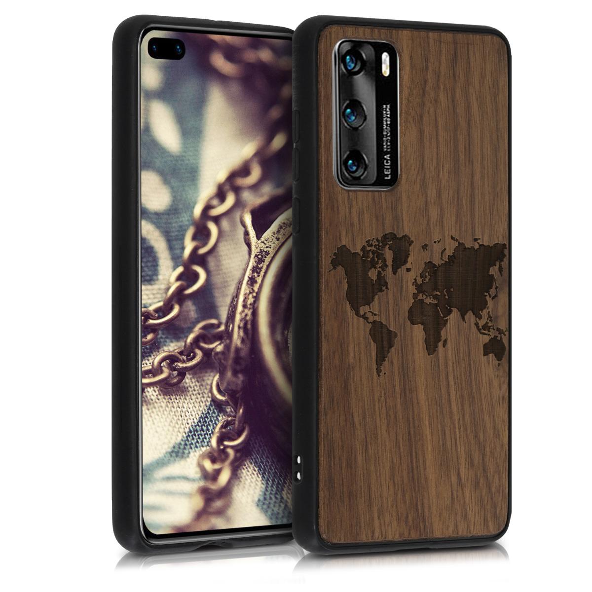 Dřevěné pouzdro / obal pro Huawei P40