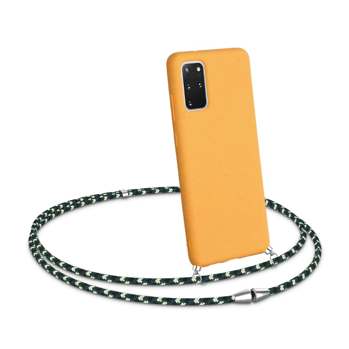 Medově žluté silikonové pouzdro / obal kolem krku pro Samsung S20 Plus