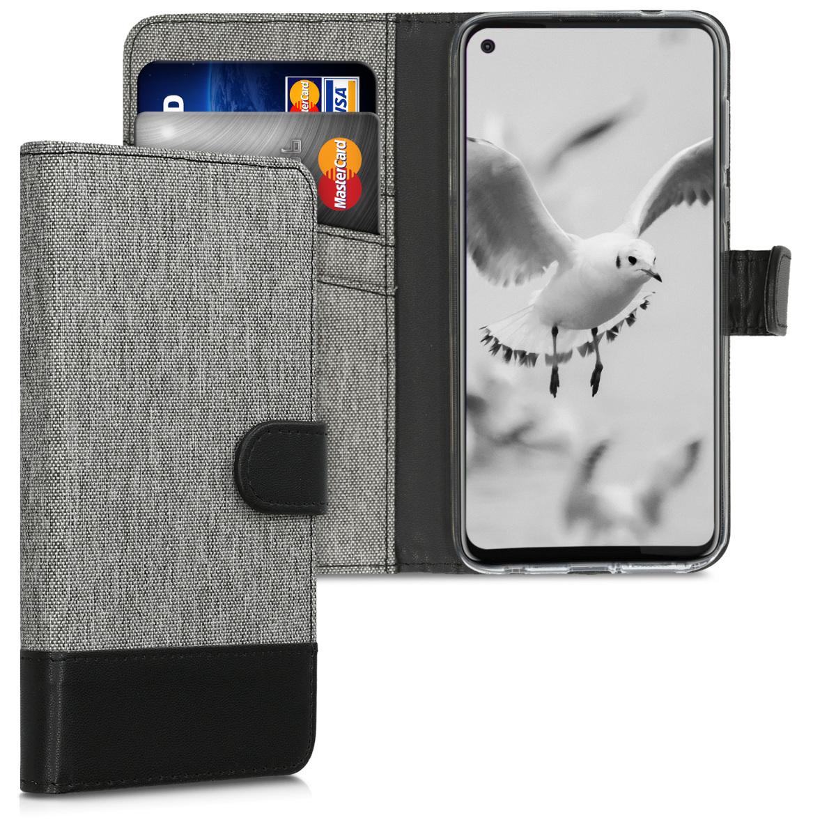 Textilní látkové pouzdro | obal pro Motorola Moto G Pro (EU) / Moto G Stylus (US) - Šedá / černá