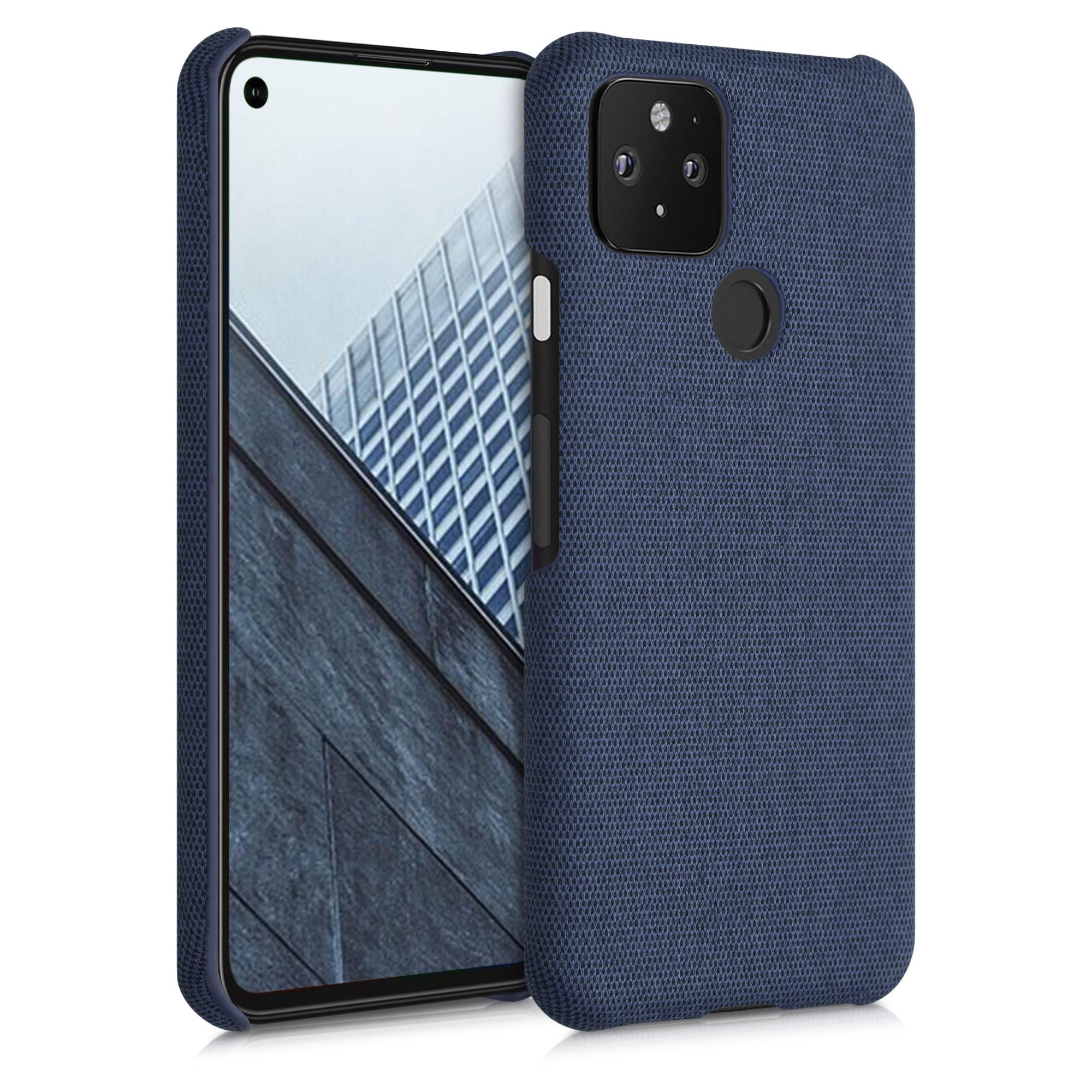 Textilní látkové pouzdro | obal pro Google Pixel 5 - Tmavě modrá