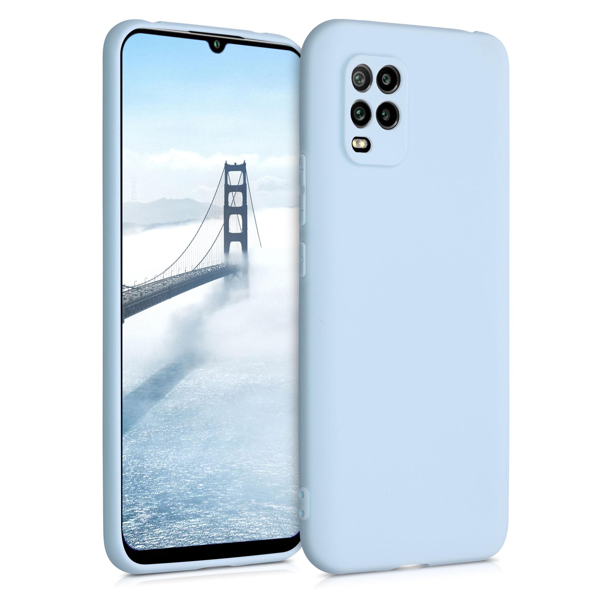 Pastelové modré silikonové pouzdro / obal pro Xiaomi Mi 10 Lite
