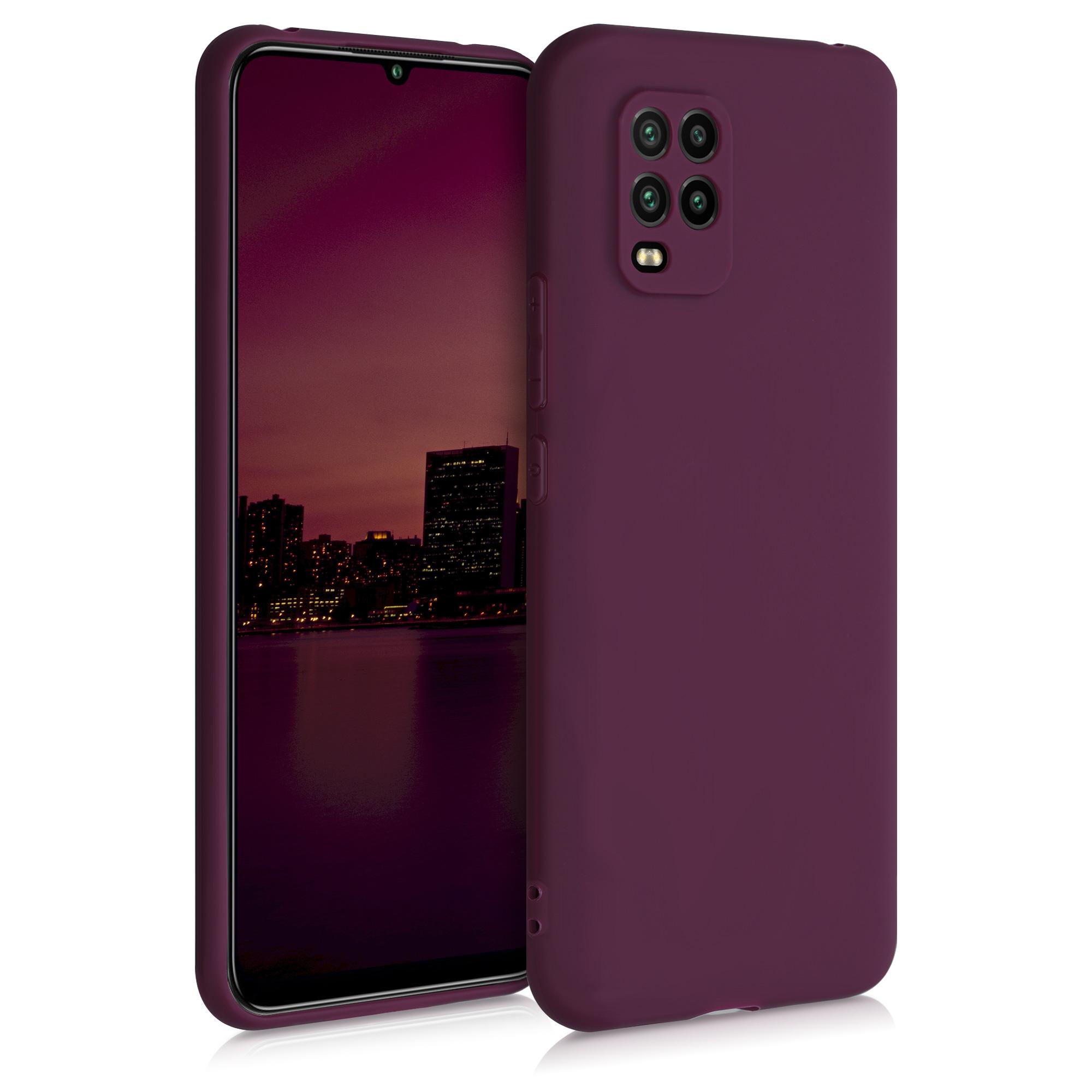 Bordeaux fialové silikonové pouzdro / obal pro Xiaomi Mi 10 Lite
