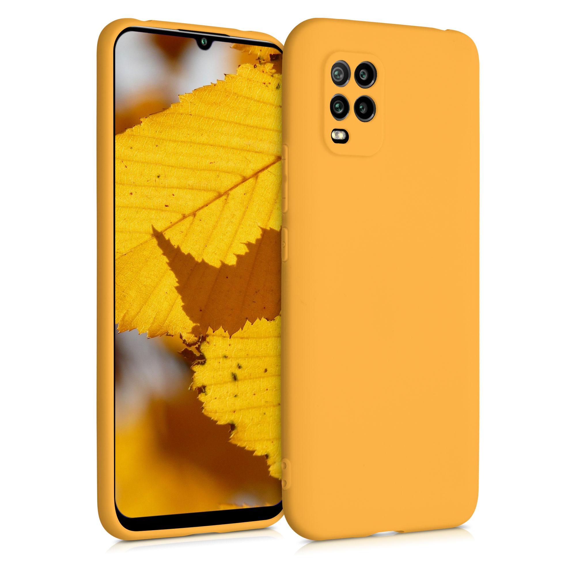 Tenké mango oranžové silikonové pouzdro / obal pro Xiaomi Mi 10 Lite