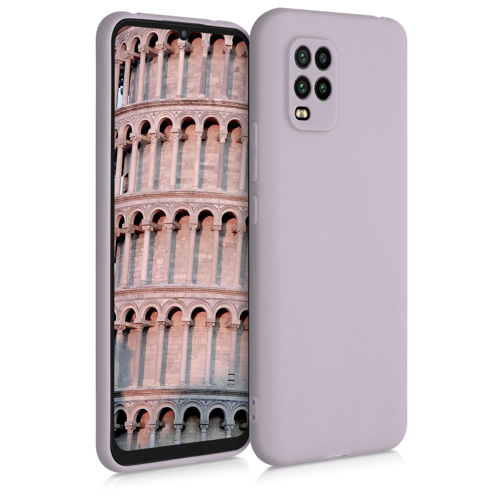 Světle fialové silikonové pouzdro / obal pro Xiaomi Mi 10 Lite