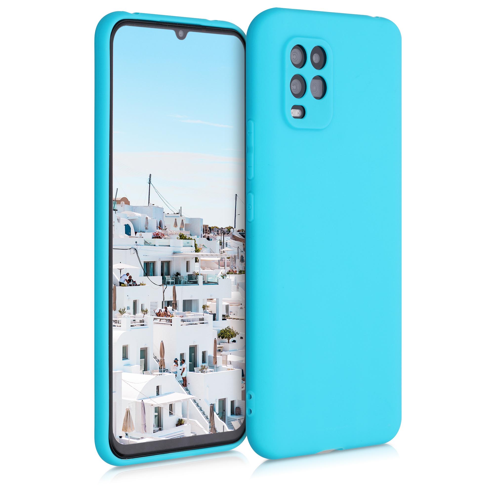 Ledově modré silikonové pouzdro / obal pro Xiaomi Mi 10 Lite