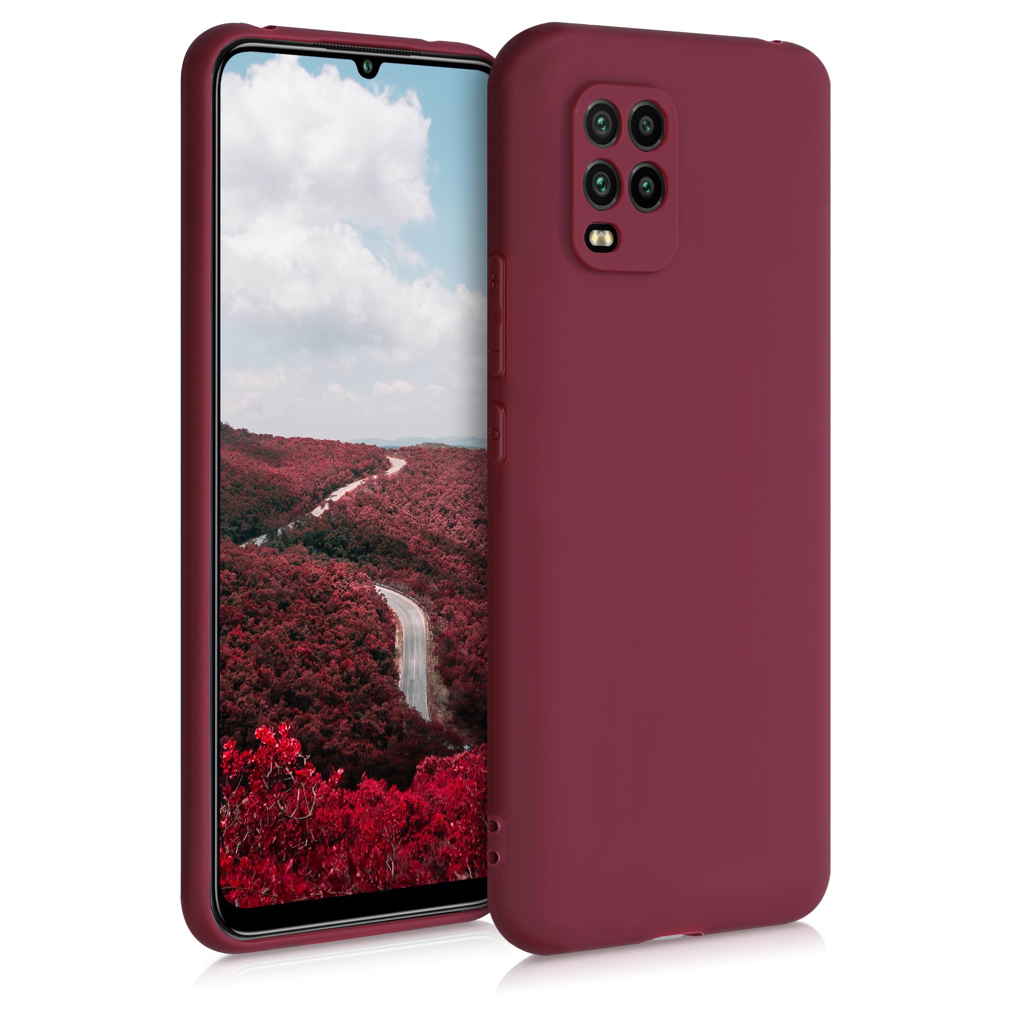 Rhubarb Red červené silikonové pouzdro / obal pro Xiaomi Mi 10 Lite