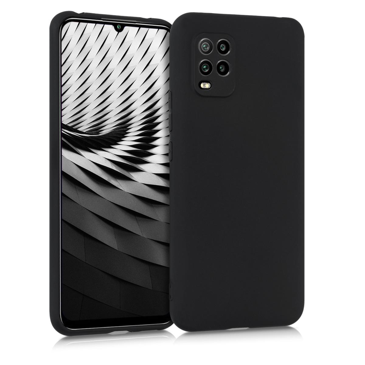 Matné černé silikonové pouzdro / obal pro Xiaomi Mi 10 Lite