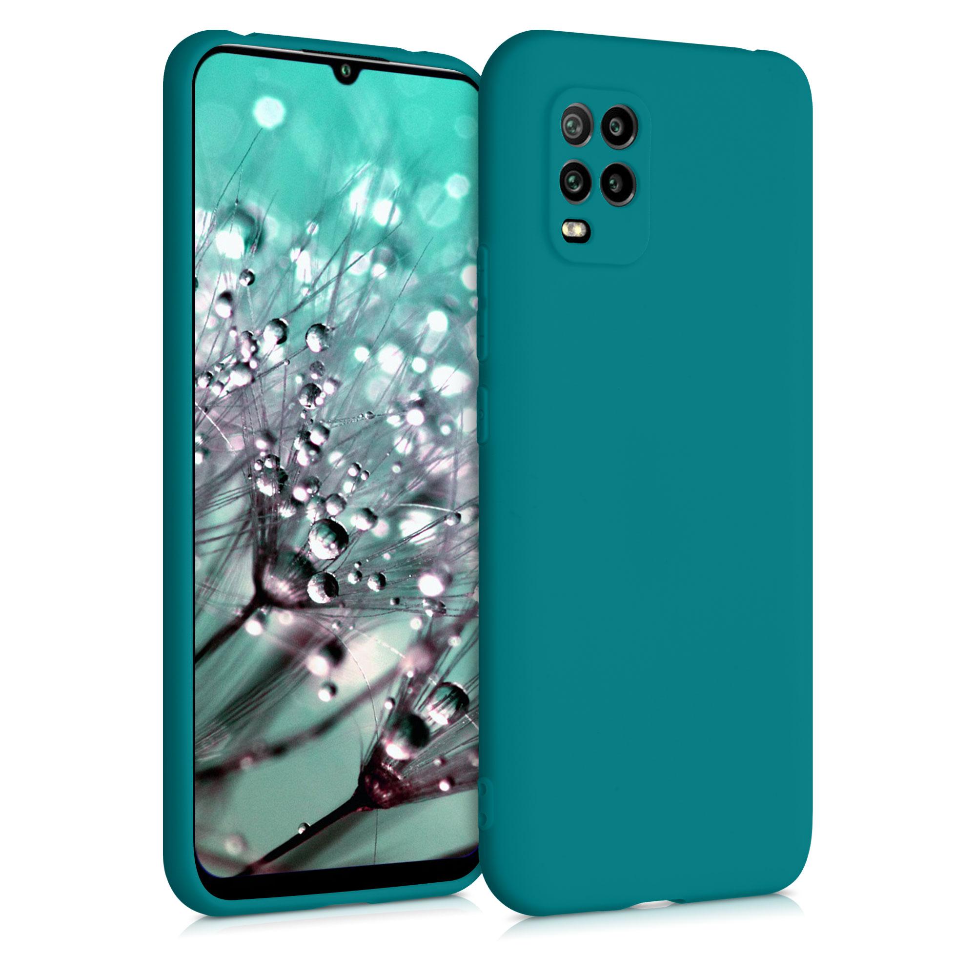 Tyrkysové modré matné silikonové pouzdro / obal pro Xiaomi Mi 10 Lite
