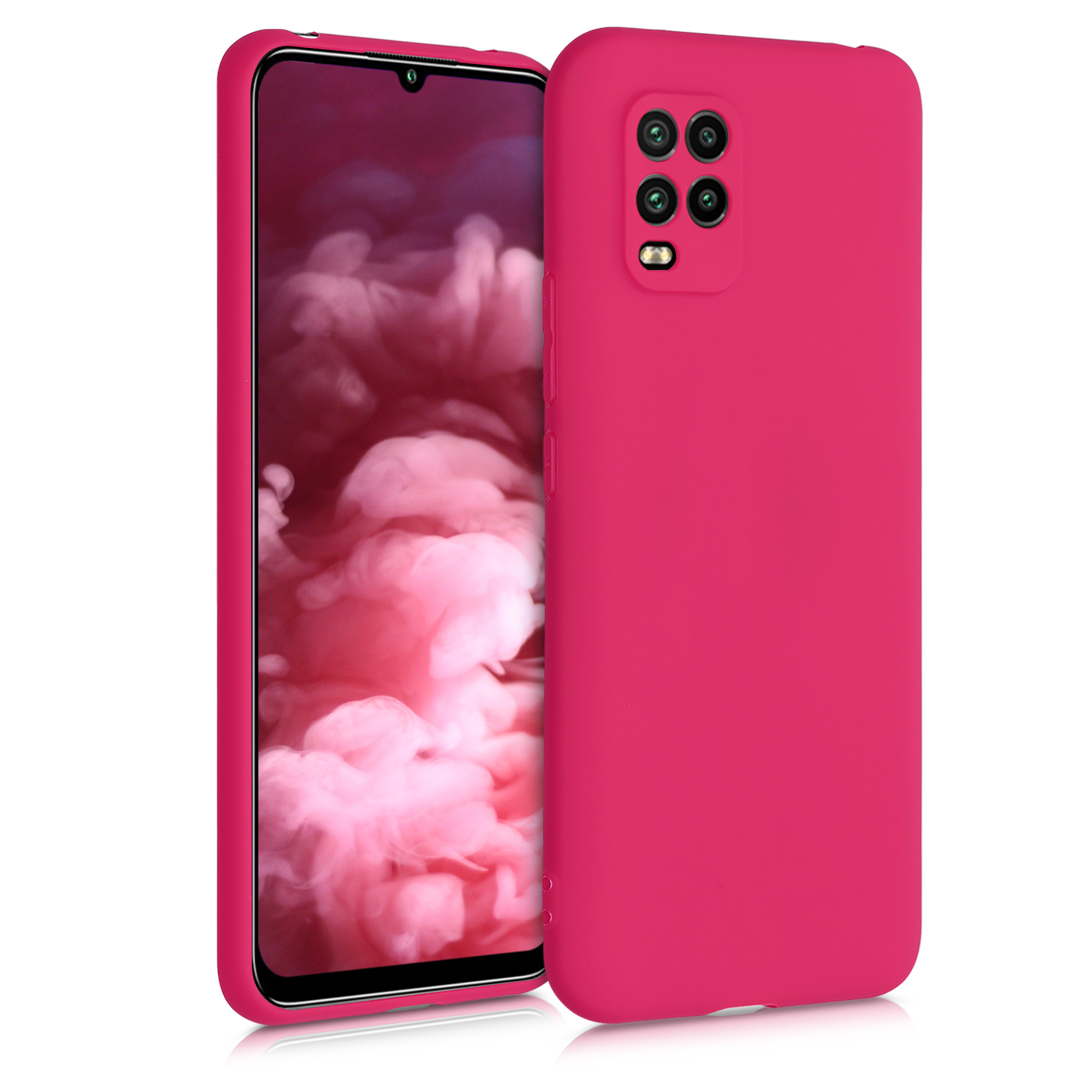 Sytě růžové silikonové pouzdro / obal pro Xiaomi Mi 10 Lite