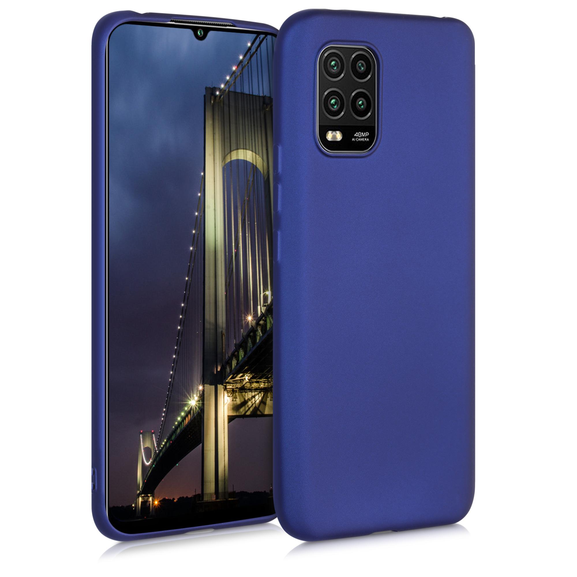 Metalické modré pouzdro / obal pro Xiaomi Mi 10 Lite