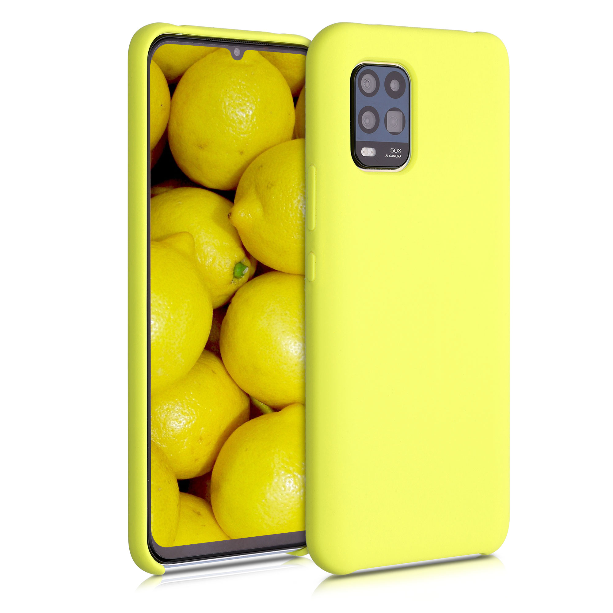Jemně žluté matné silikonové pouzdro / obal pro Xiaomi Mi 10 Lite