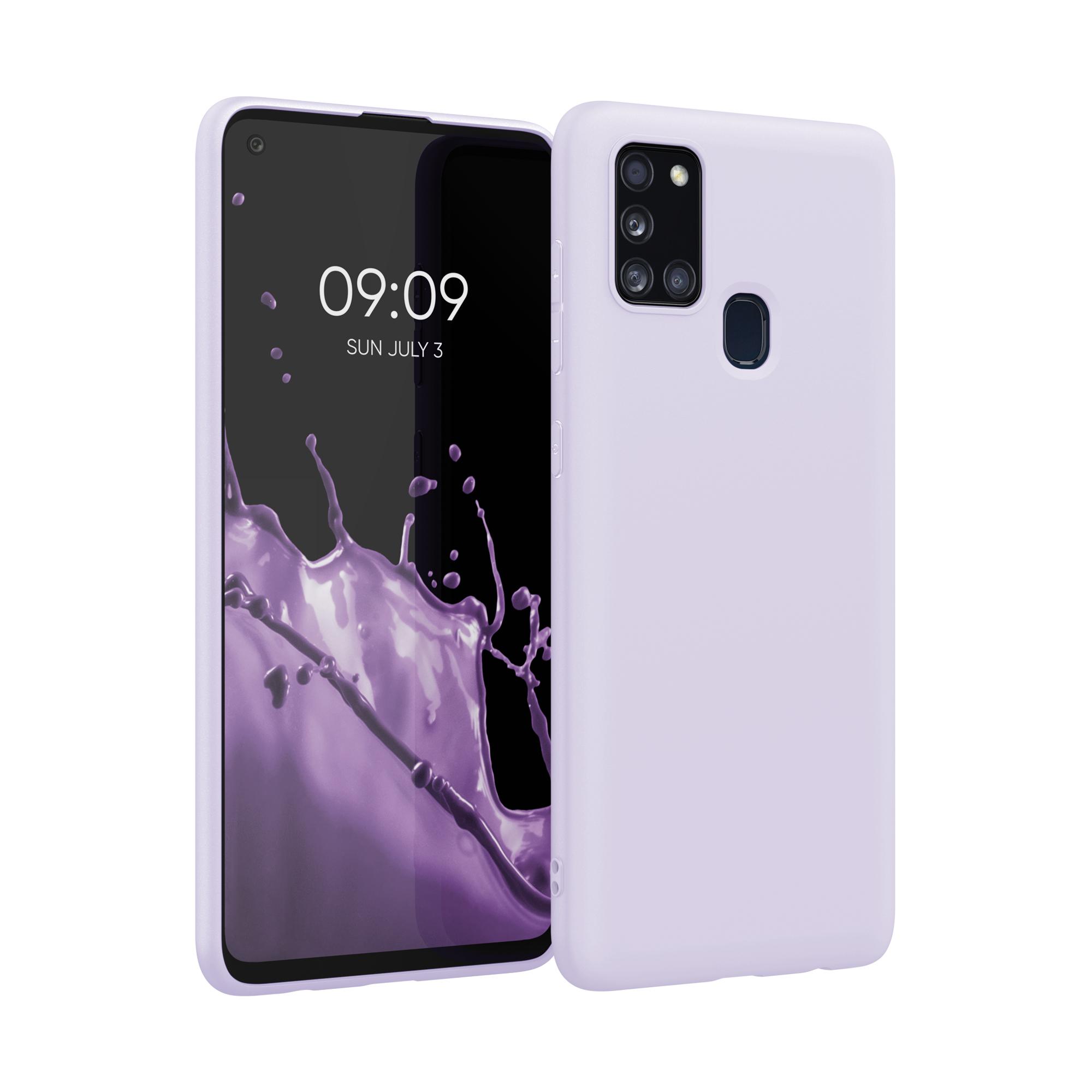 Kvalitní silikonové TPU pouzdro pro Samsung A21s - levandulové fialové