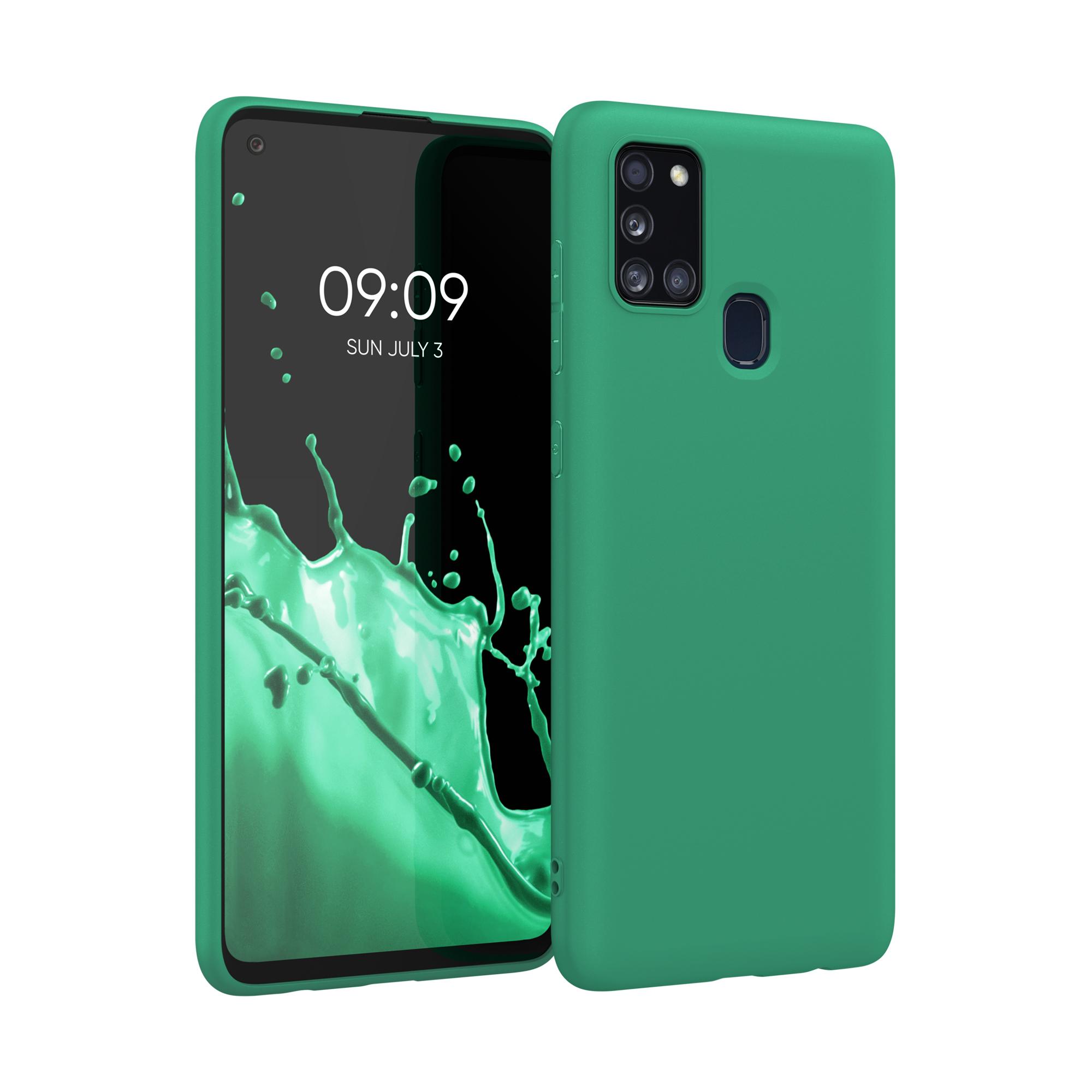 Kvalitní silikonové TPU pouzdro pro Samsung A21s - Smaragdová zeleň