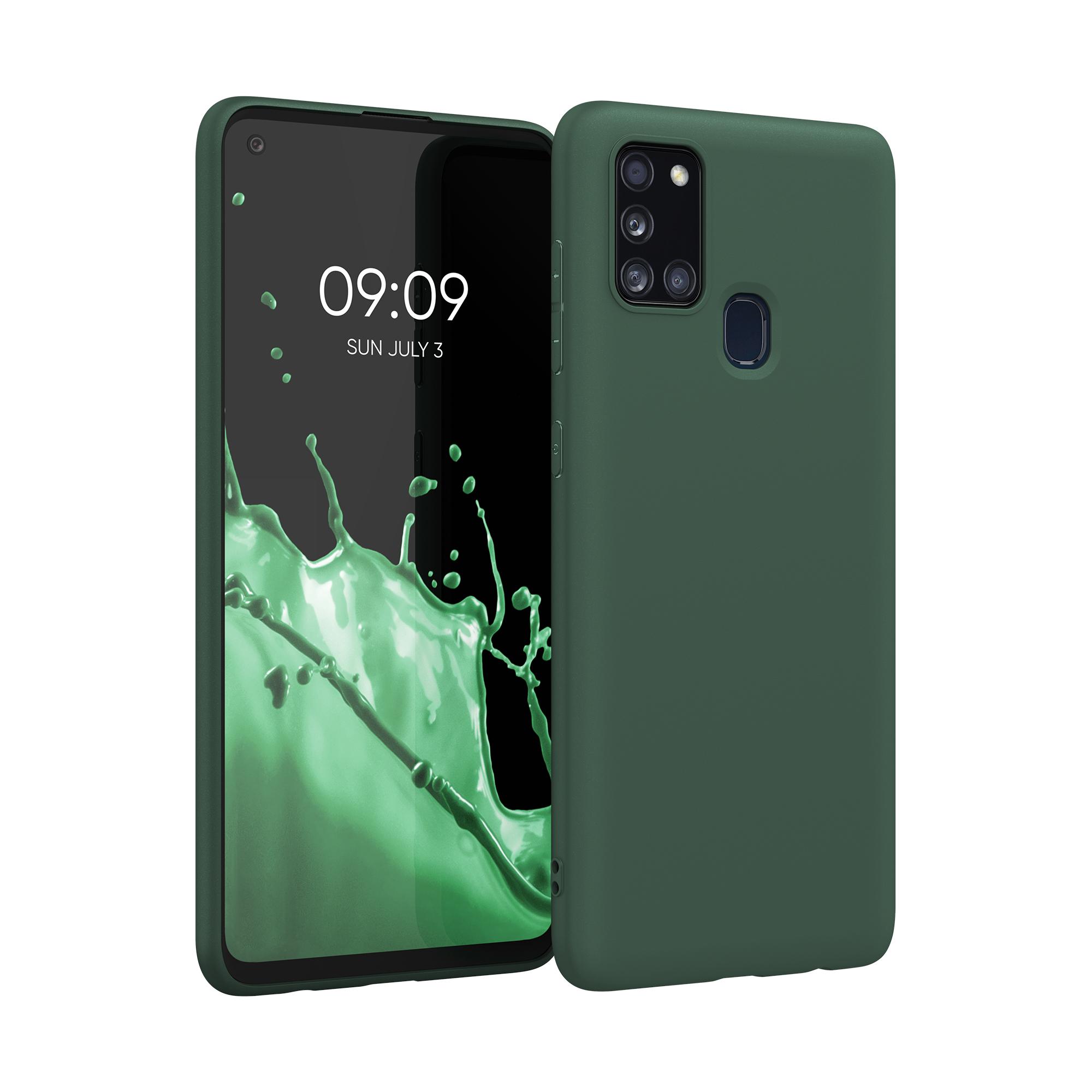 Kvalitní silikonové TPU pouzdro pro Samsung A21s - Moss zelené