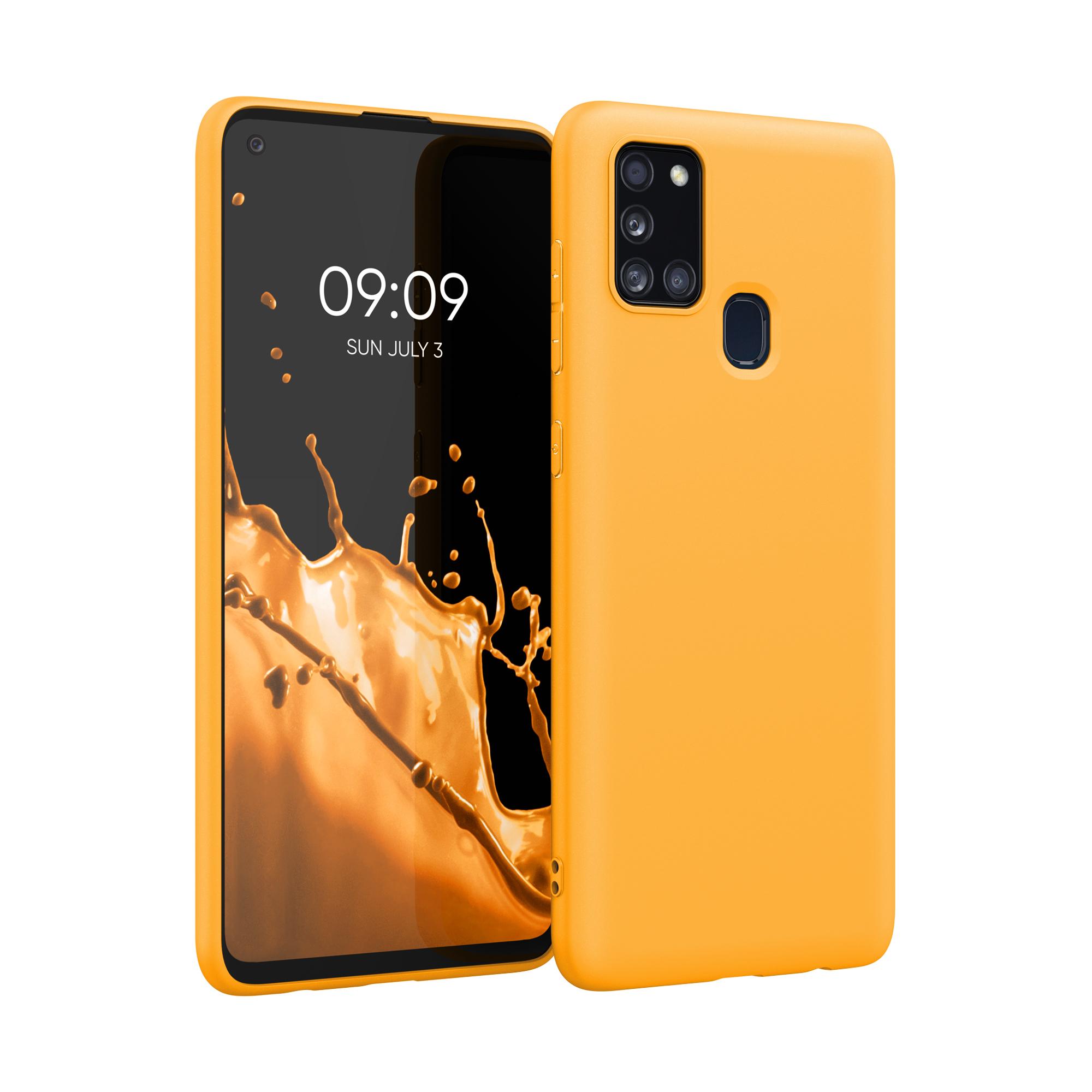 Kvalitní silikonové TPU pouzdro pro Samsung A21s - šafránově žluté