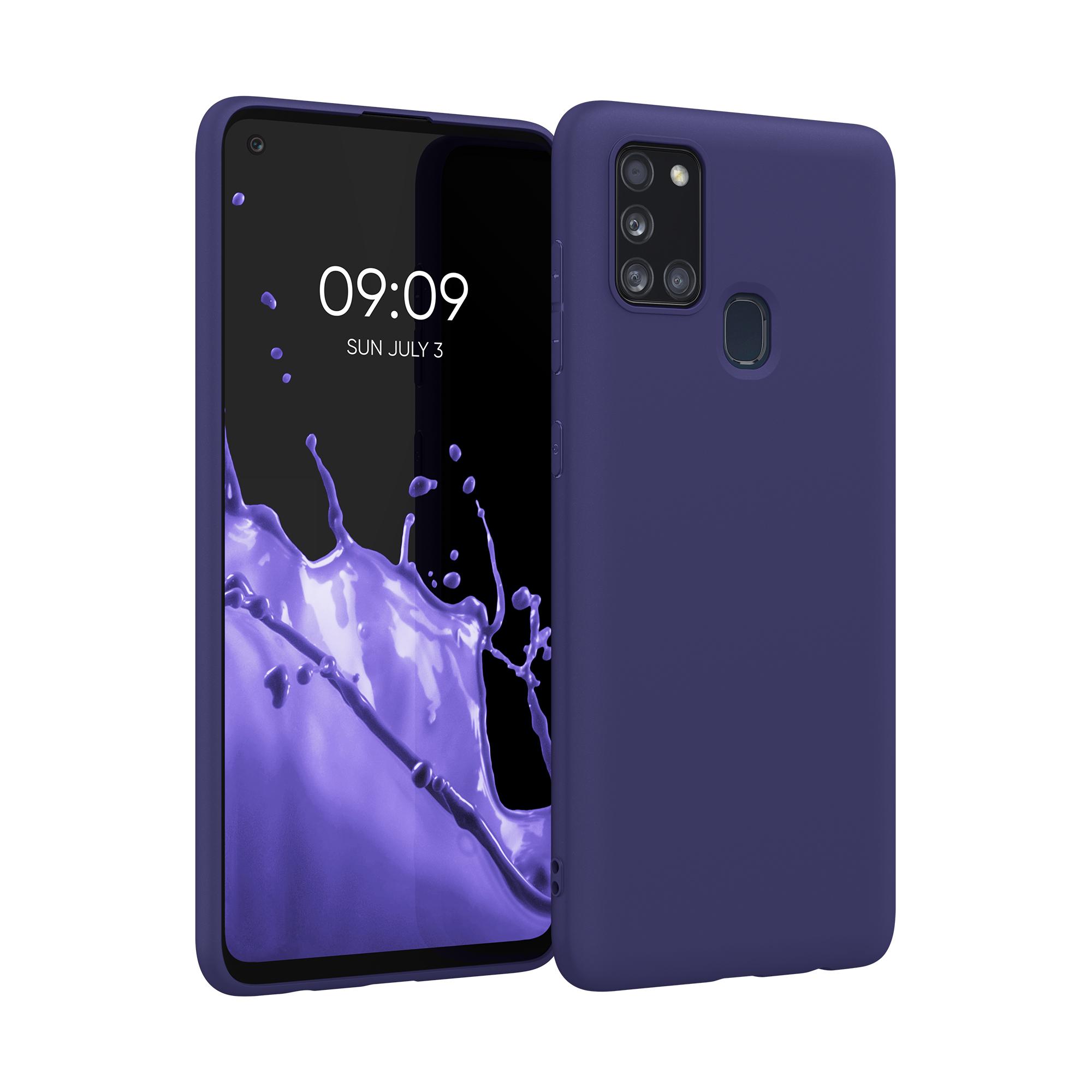 Kvalitní silikonové TPU pouzdro pro Samsung A21s - Hluboké modré moře