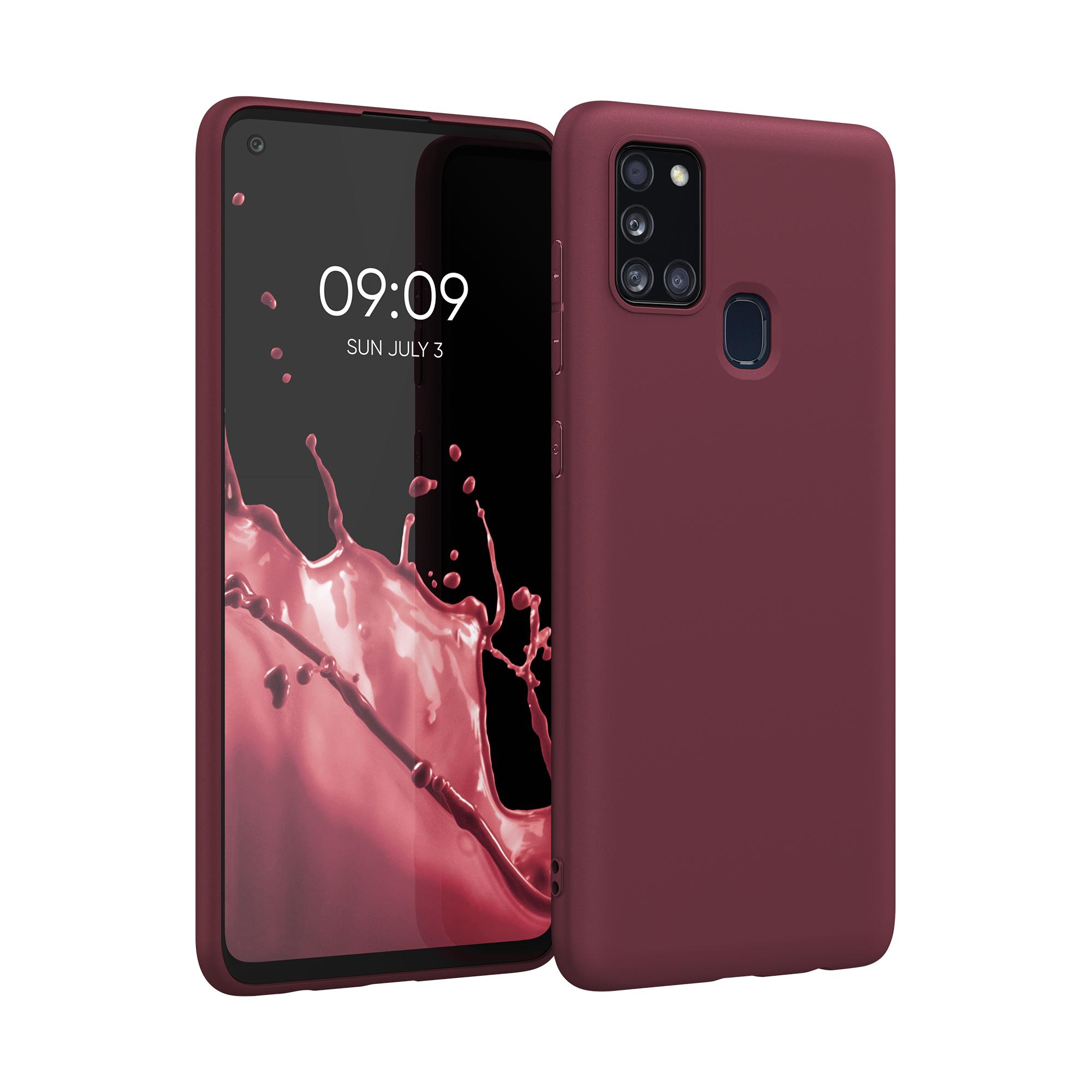 Kvalitní silikonové TPU pouzdro pro Samsung A21s - Tawny Red