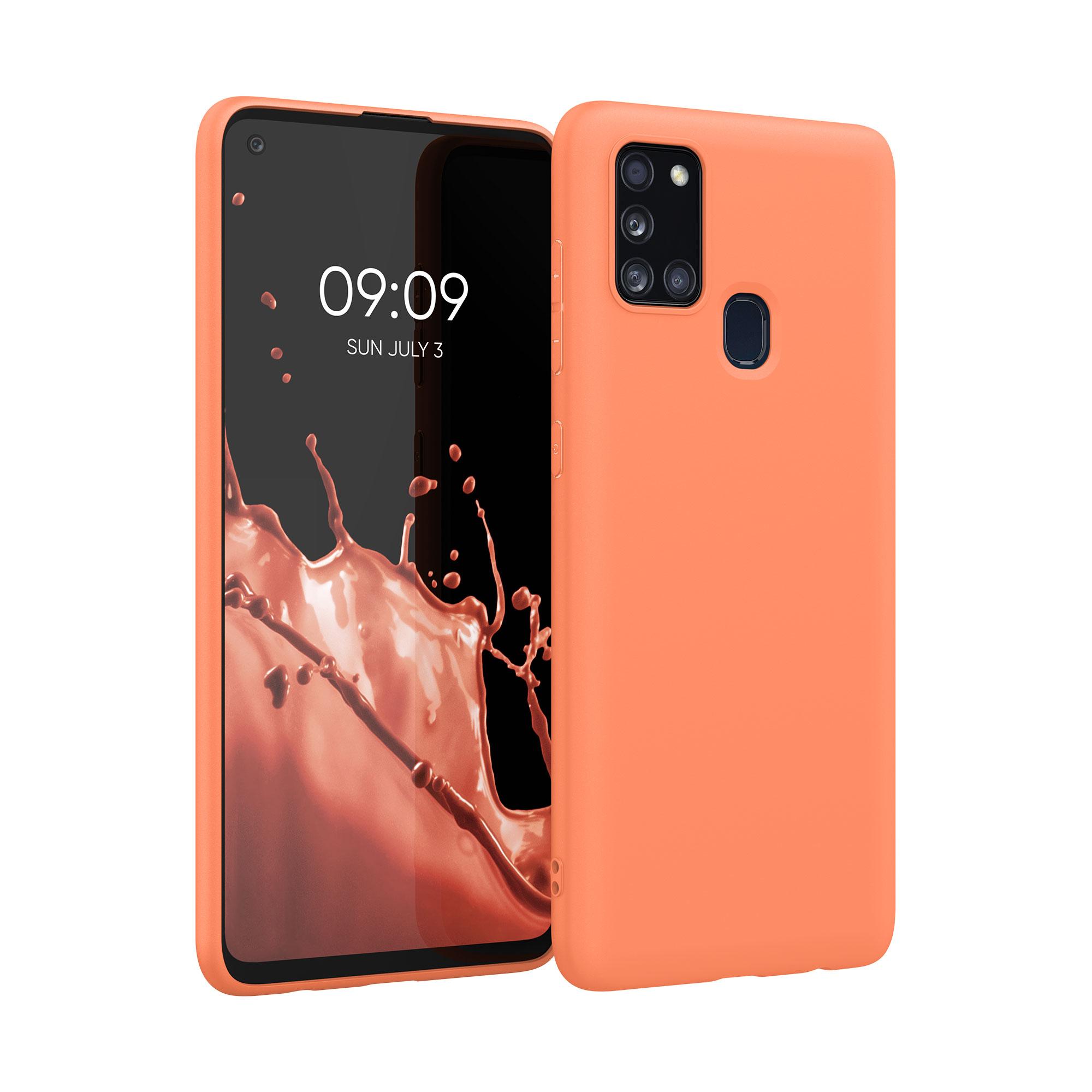Kvalitní silikonové TPU pouzdro pro Samsung A21s - Sunrise oranžové