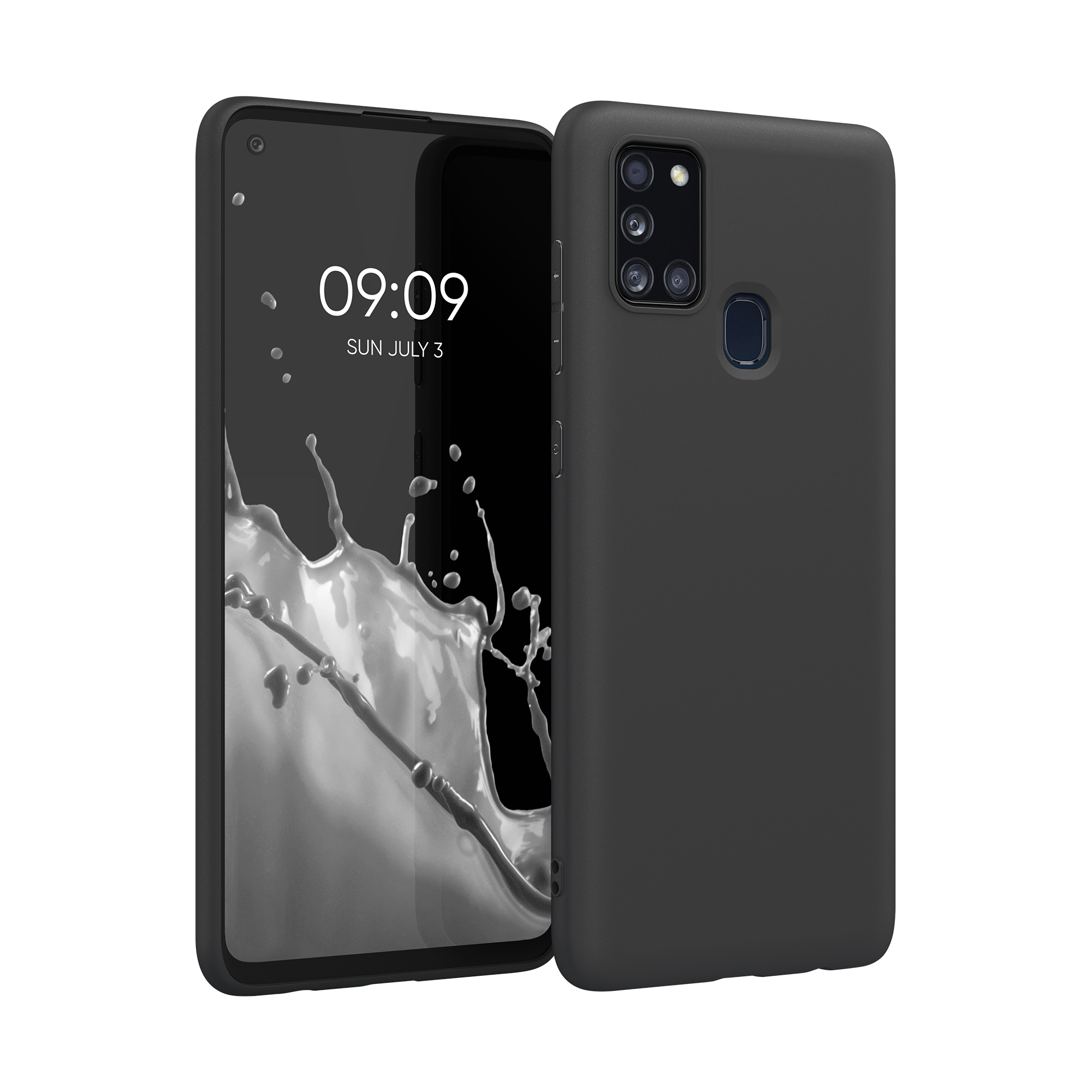 Kvalitní silikonové TPU pouzdro pro Samsung A21s - černé matné