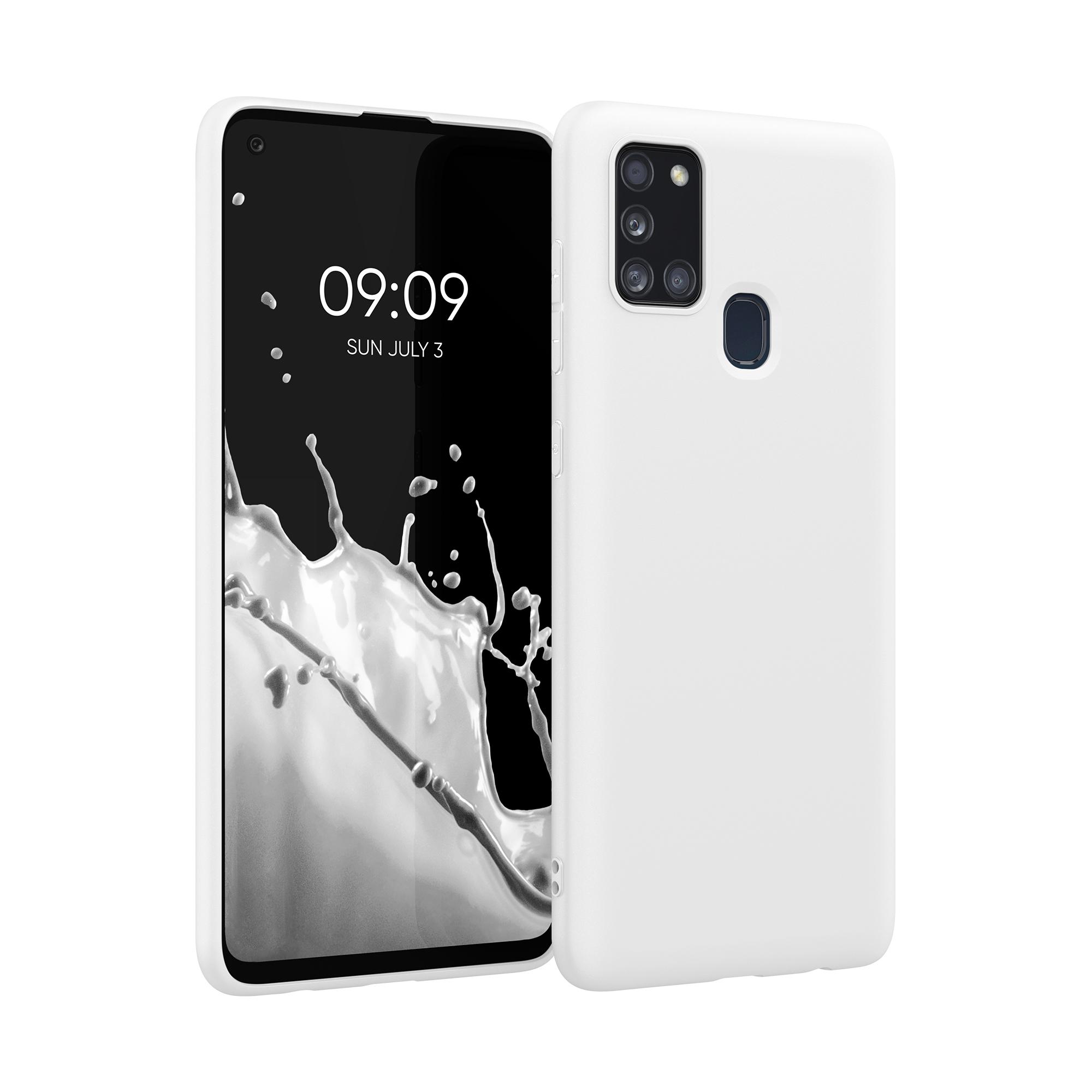 Kvalitní silikonové TPU pouzdro pro Samsung A21s - White Matte
