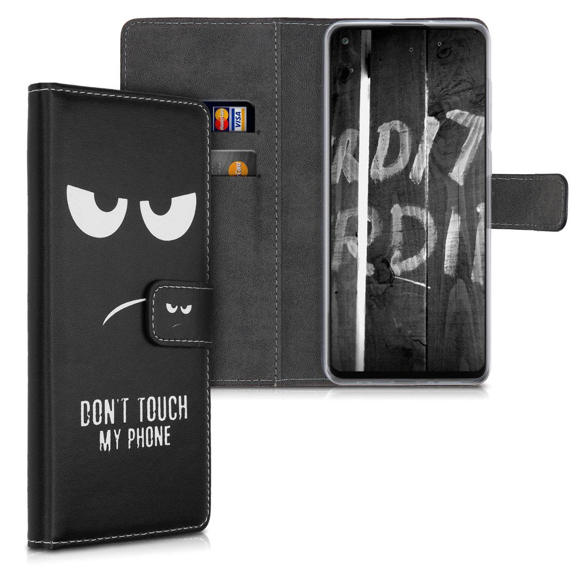 Kožené pouzdro pro Samsung A21s - Nedotýkejte My Phone White / Black