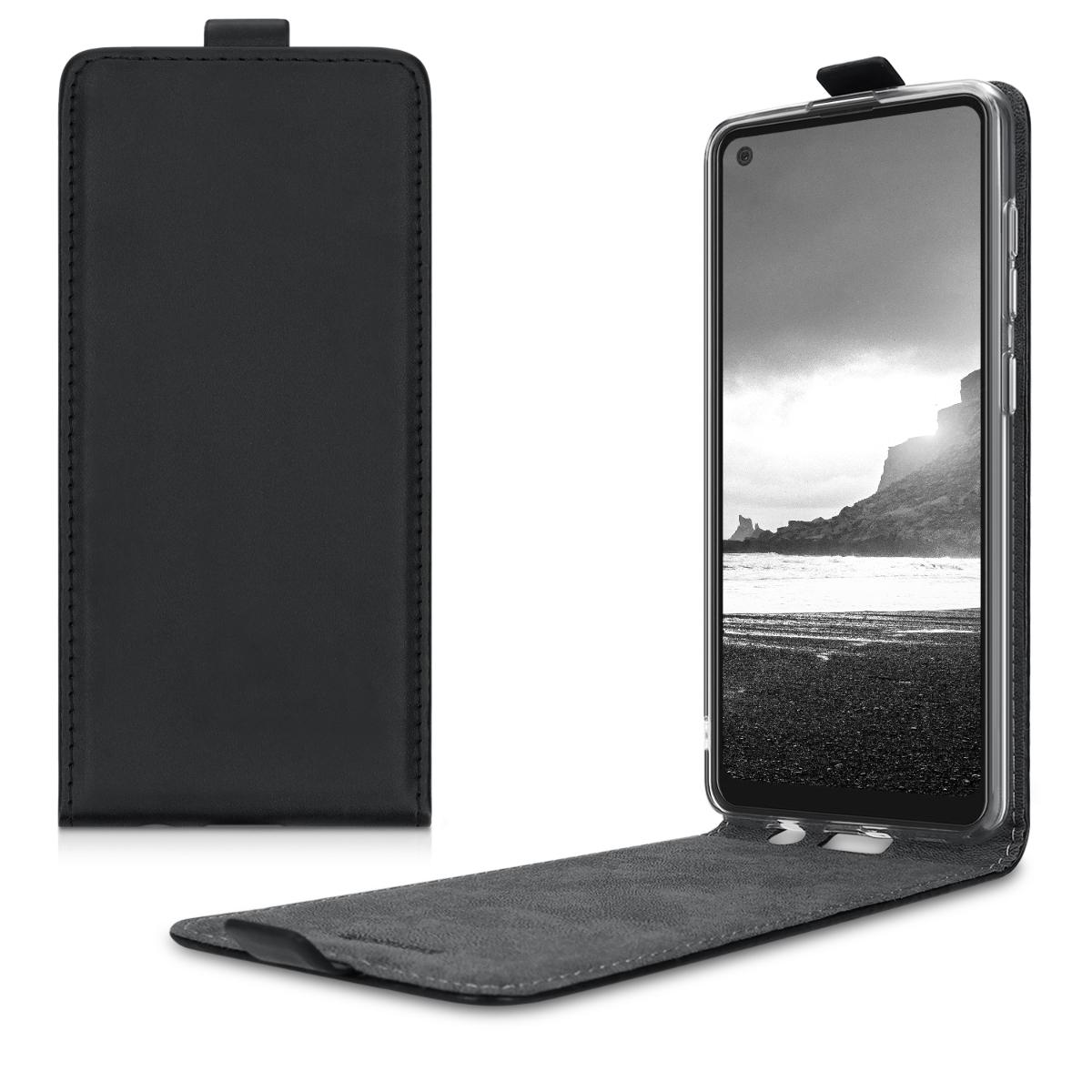 Kožené pouzdro pro Samsung A21s - černé