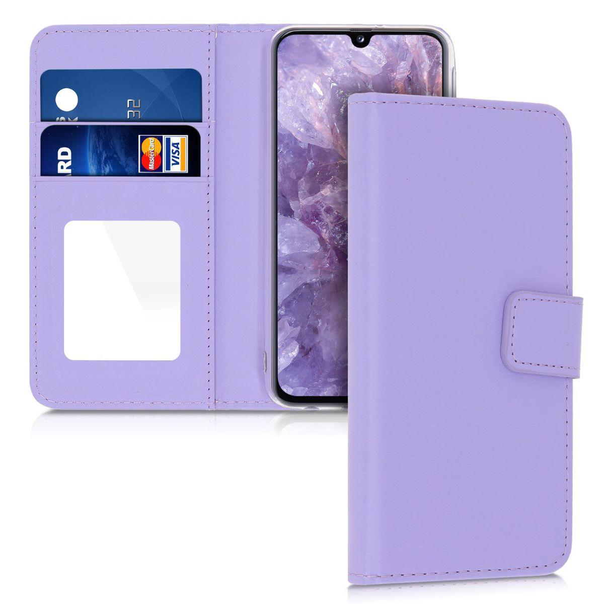 Kožené pouzdro pro Samsung A40 - Light Lavender