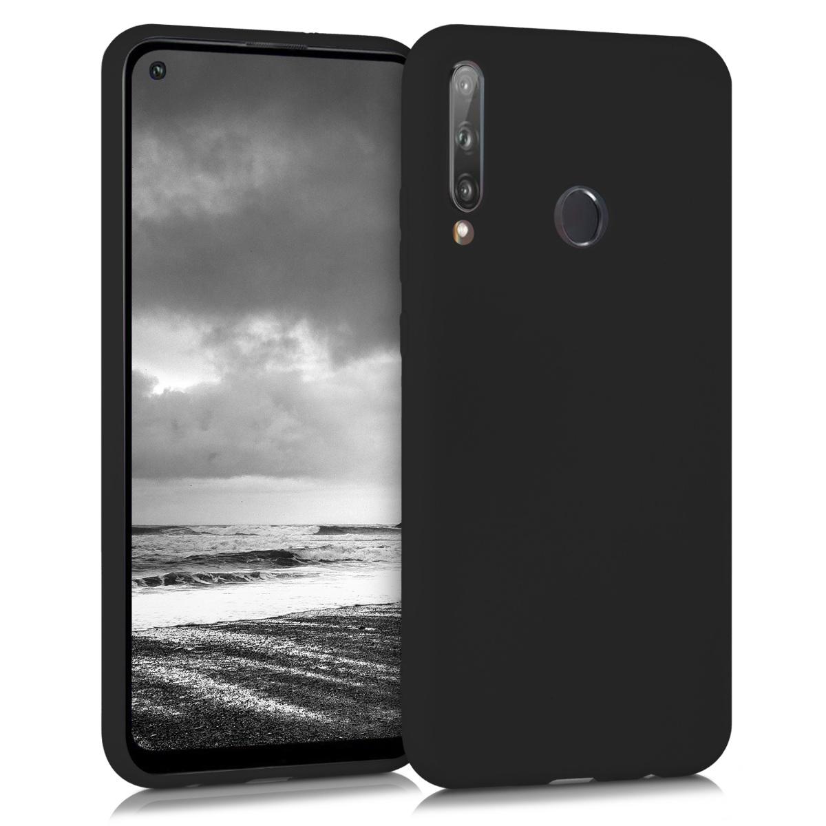 Černé silikonové pouzdro / obal pro Huawei P40 Lite E