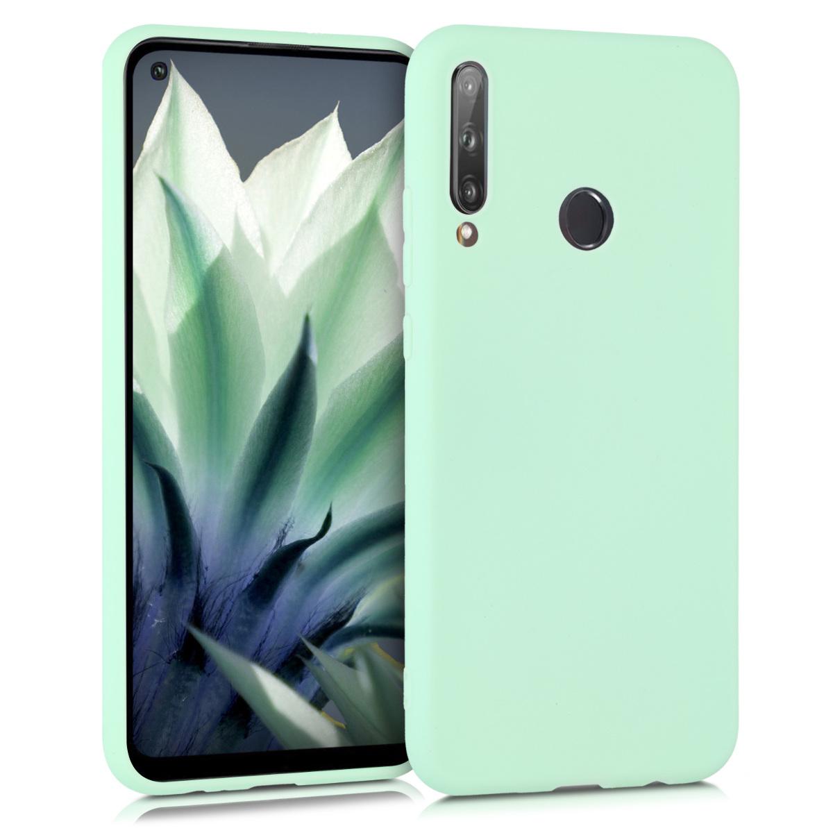 Zelené mint silikonové pouzdro / obal pro Huawei P40 Lite E