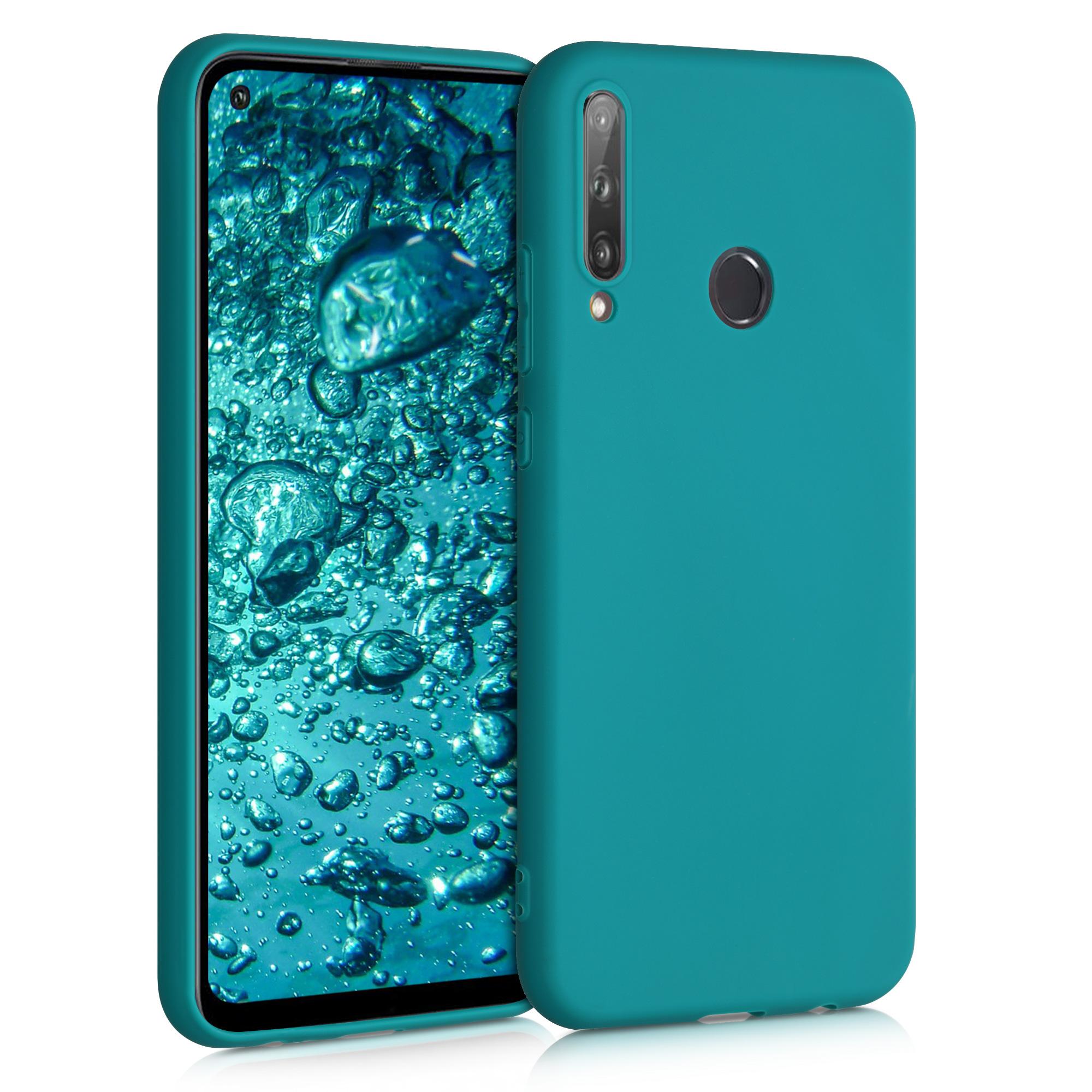 Tyrkysové modré silikonové pouzdro / obal pro Huawei P40 Lite E