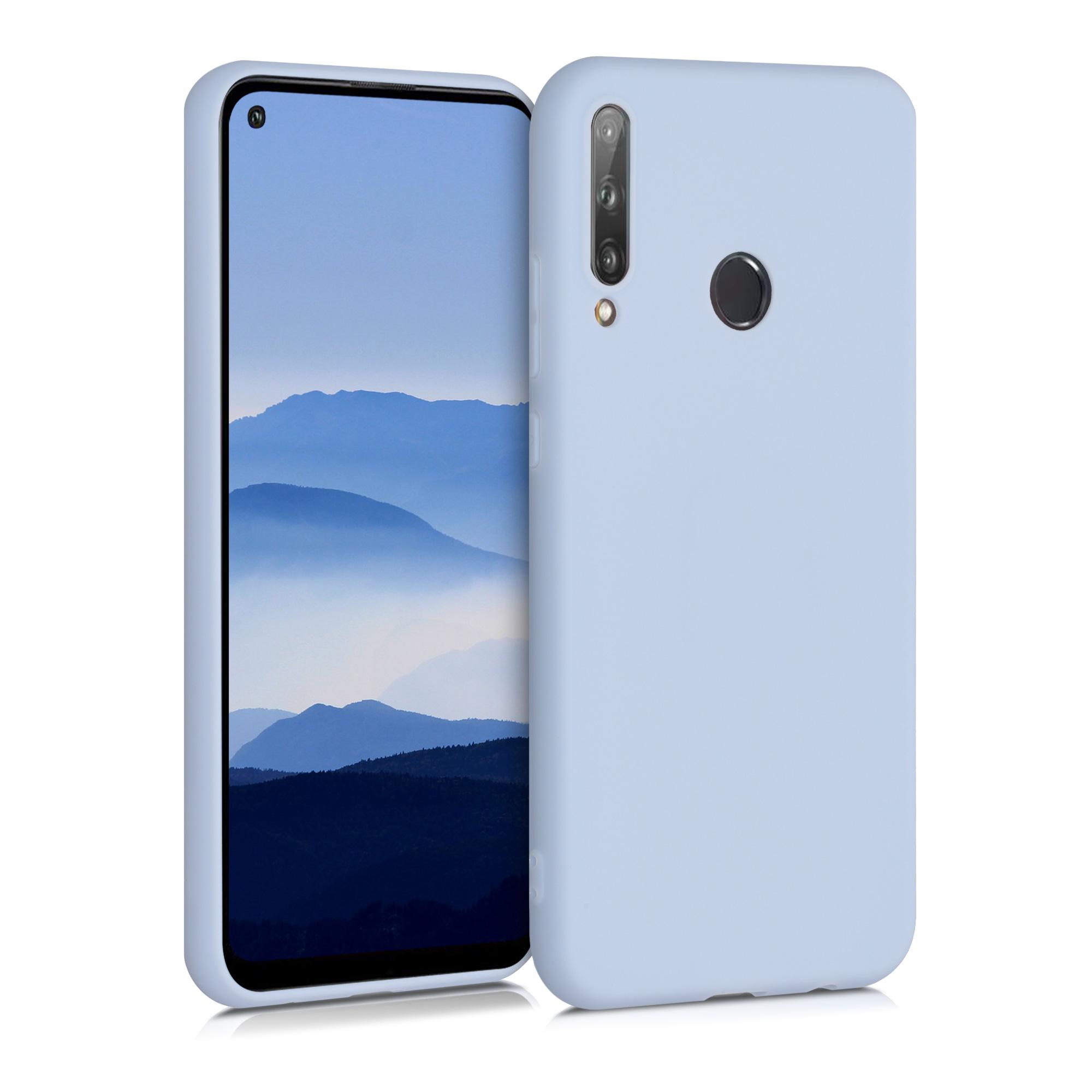 Světle modré silikonové pouzdro / obal pro Huawei P40 Lite E