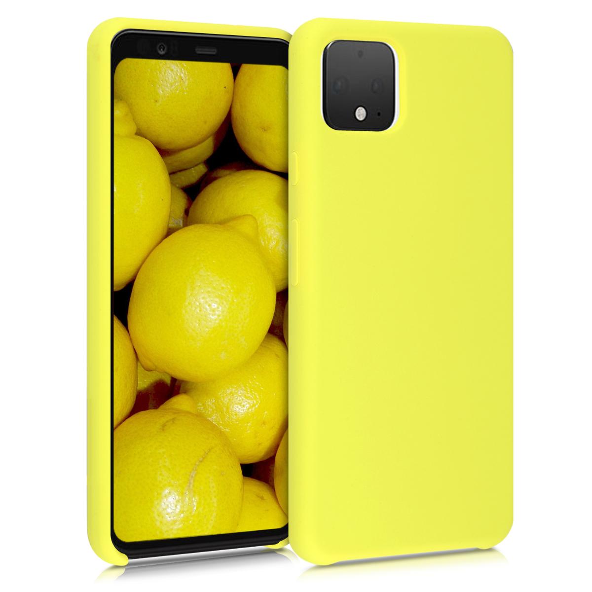 Kvalitní silikonové TPU pouzdro | obal pro Google Pixel 4 XL - Žlutá matná